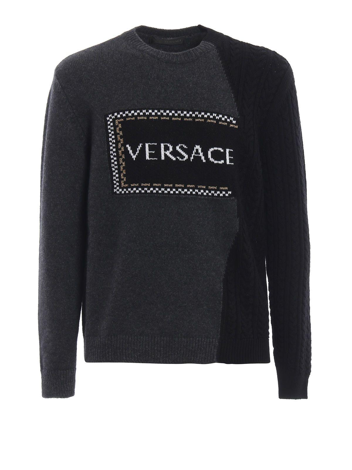 Versace Contrast Logo Sweater