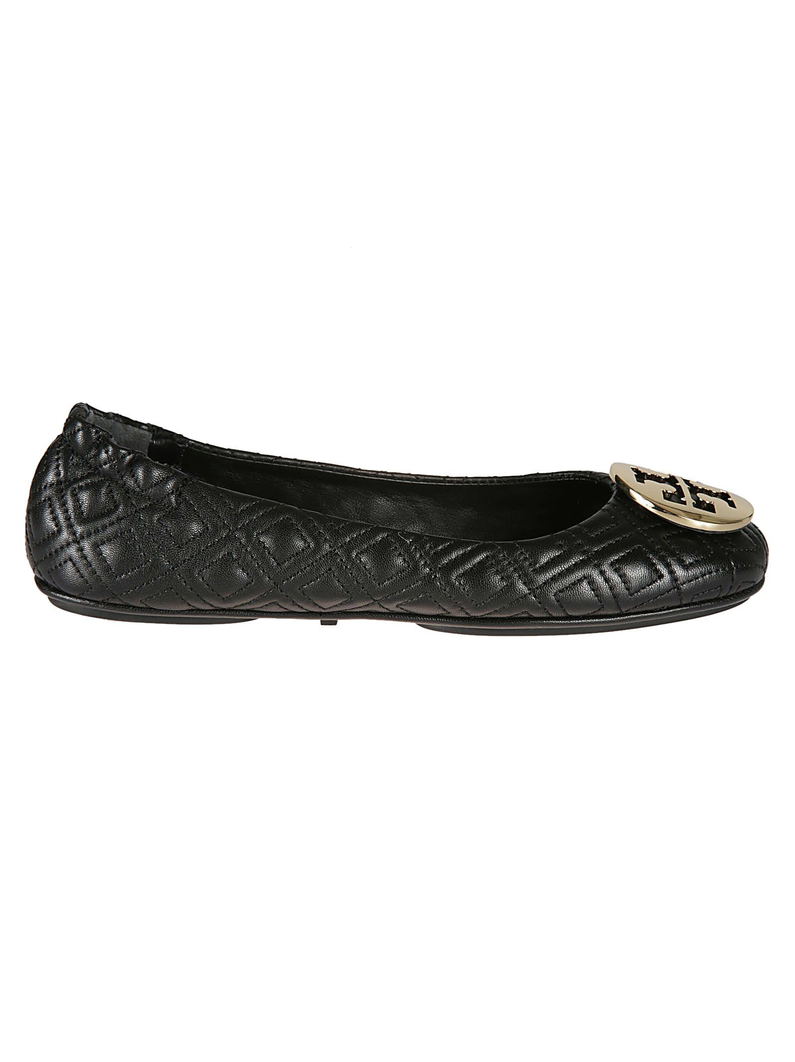 Tory Burch Quilted Logo Ballerinas