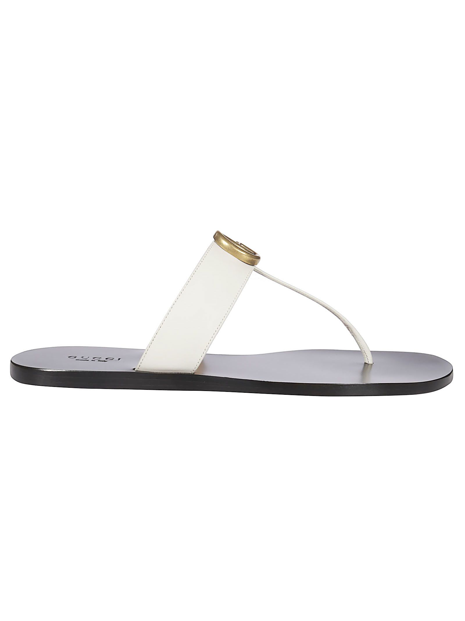 d45250ed139 Gucci Gg Thong Flat Sandals In Mystic White