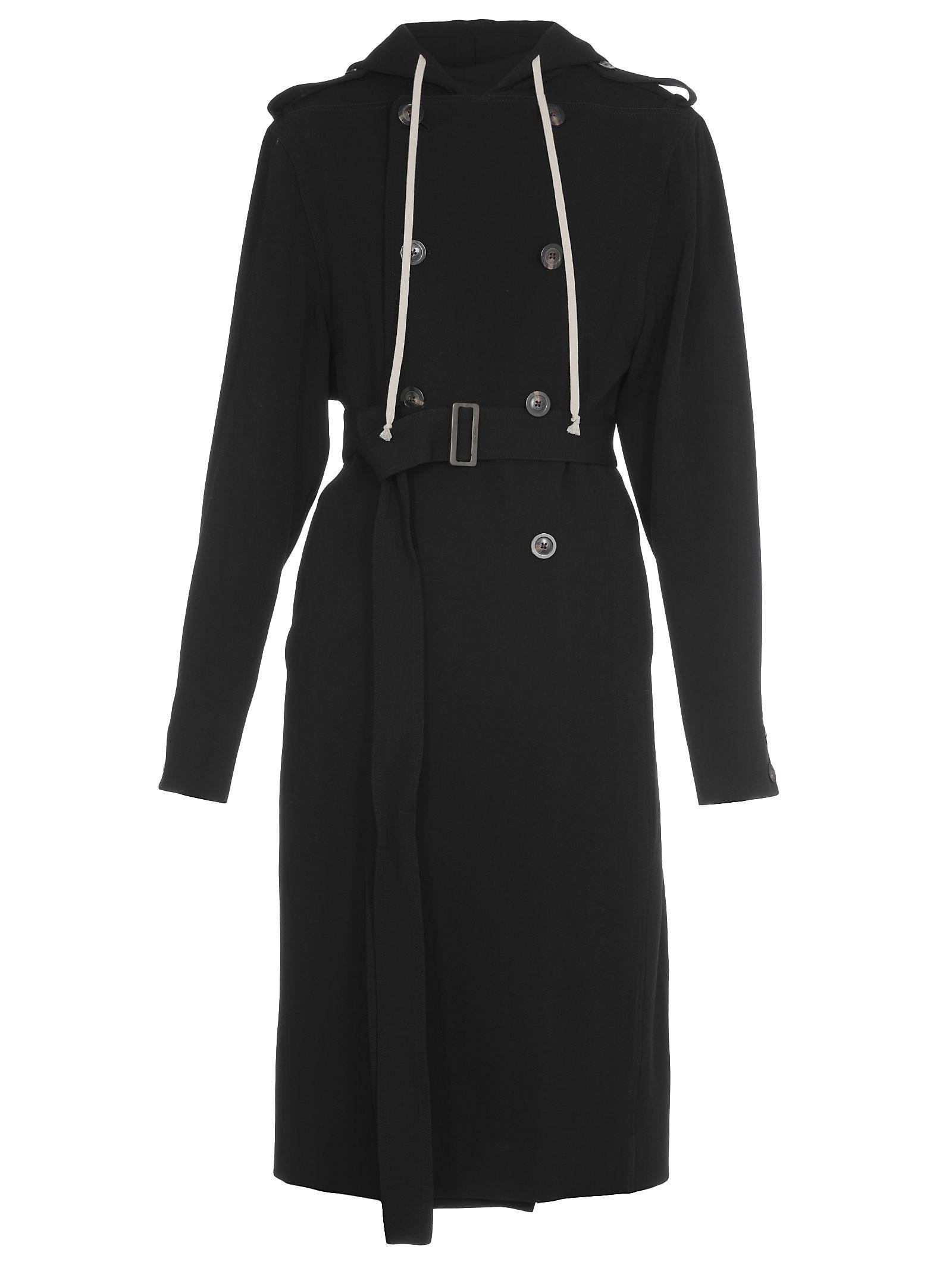 Rick Owens Wool Blend Coat