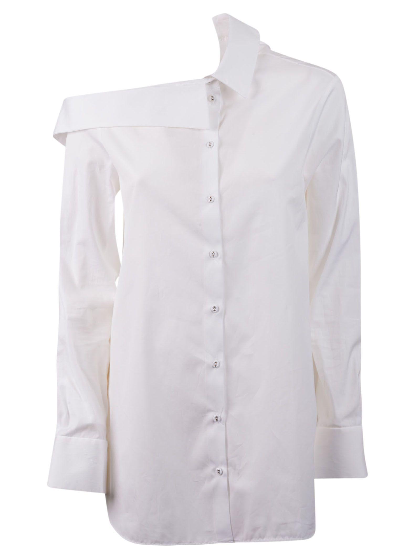 Victoria Beckham Off Shoulder Shirt