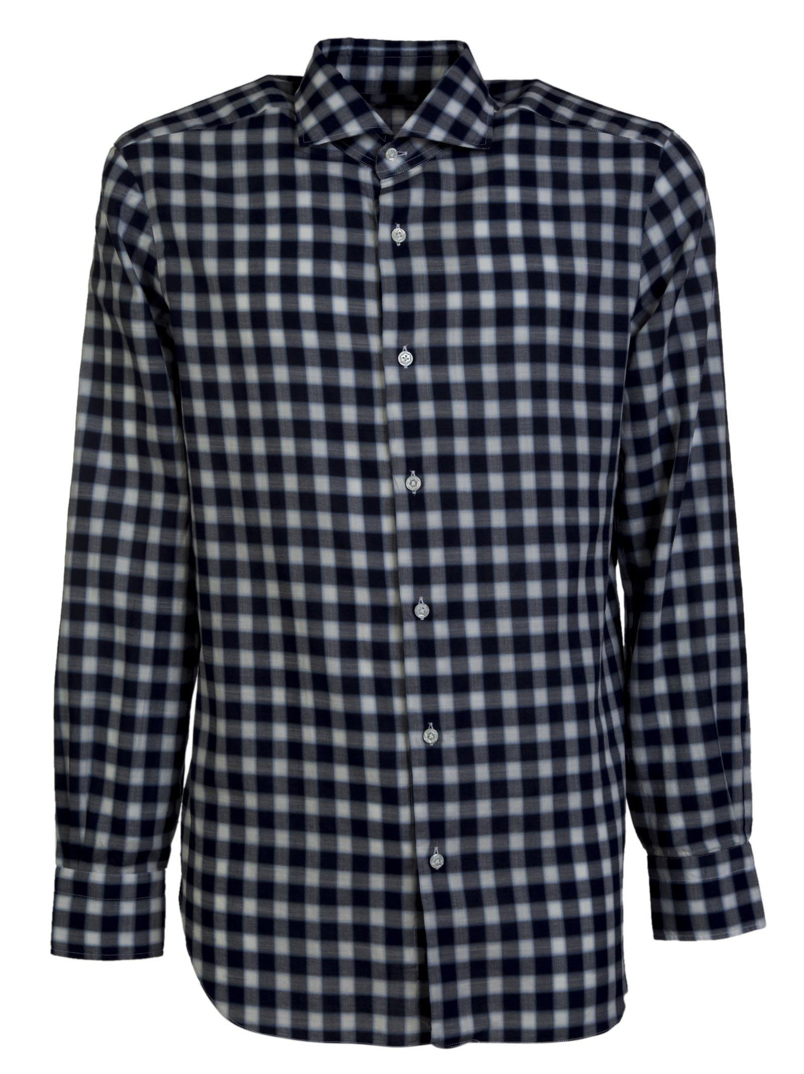 Barba Napoli Checkered Shirt