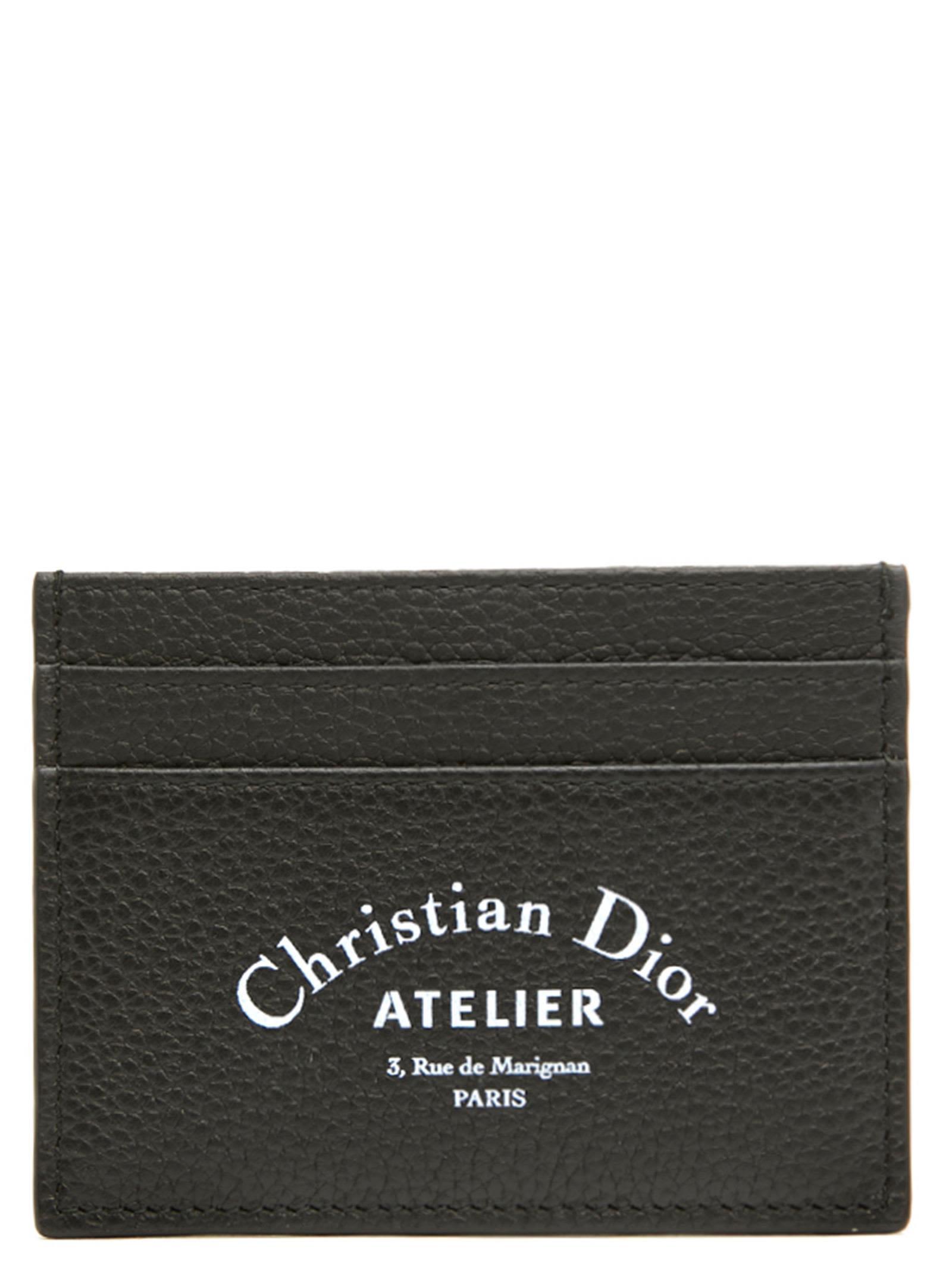 DIOR HOMME 'Dior Atelier' Cardholder in Black