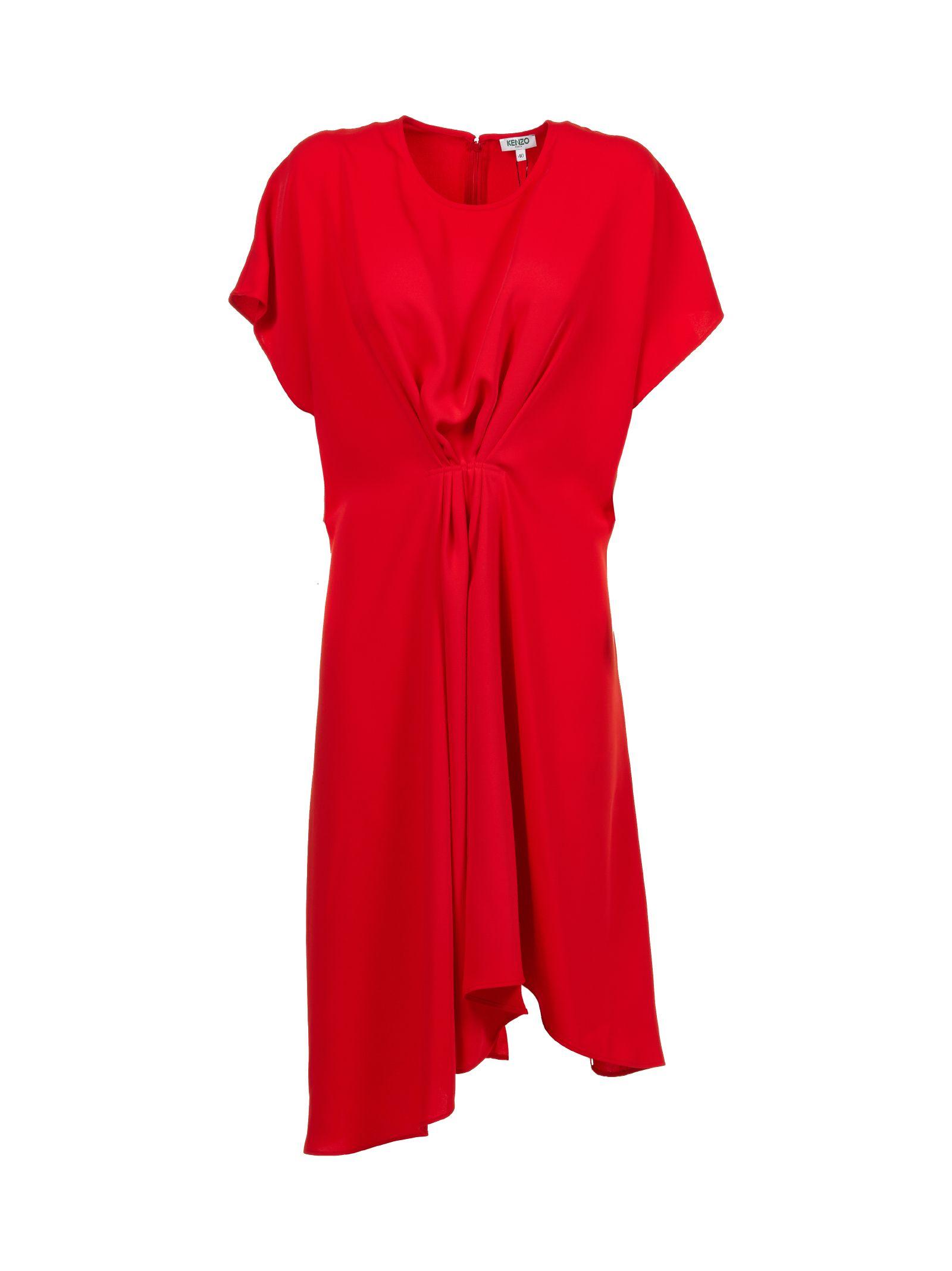 Kenzo Gathered Front Dress