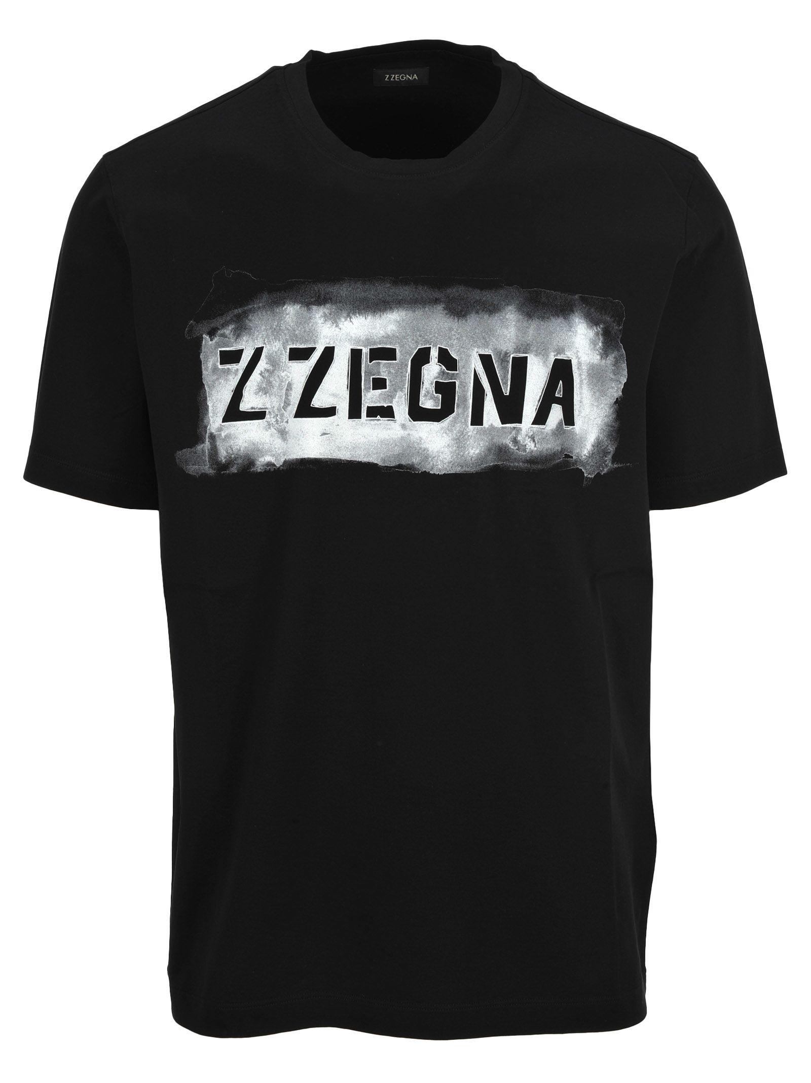 Z-zegna Short Sleeves Logo