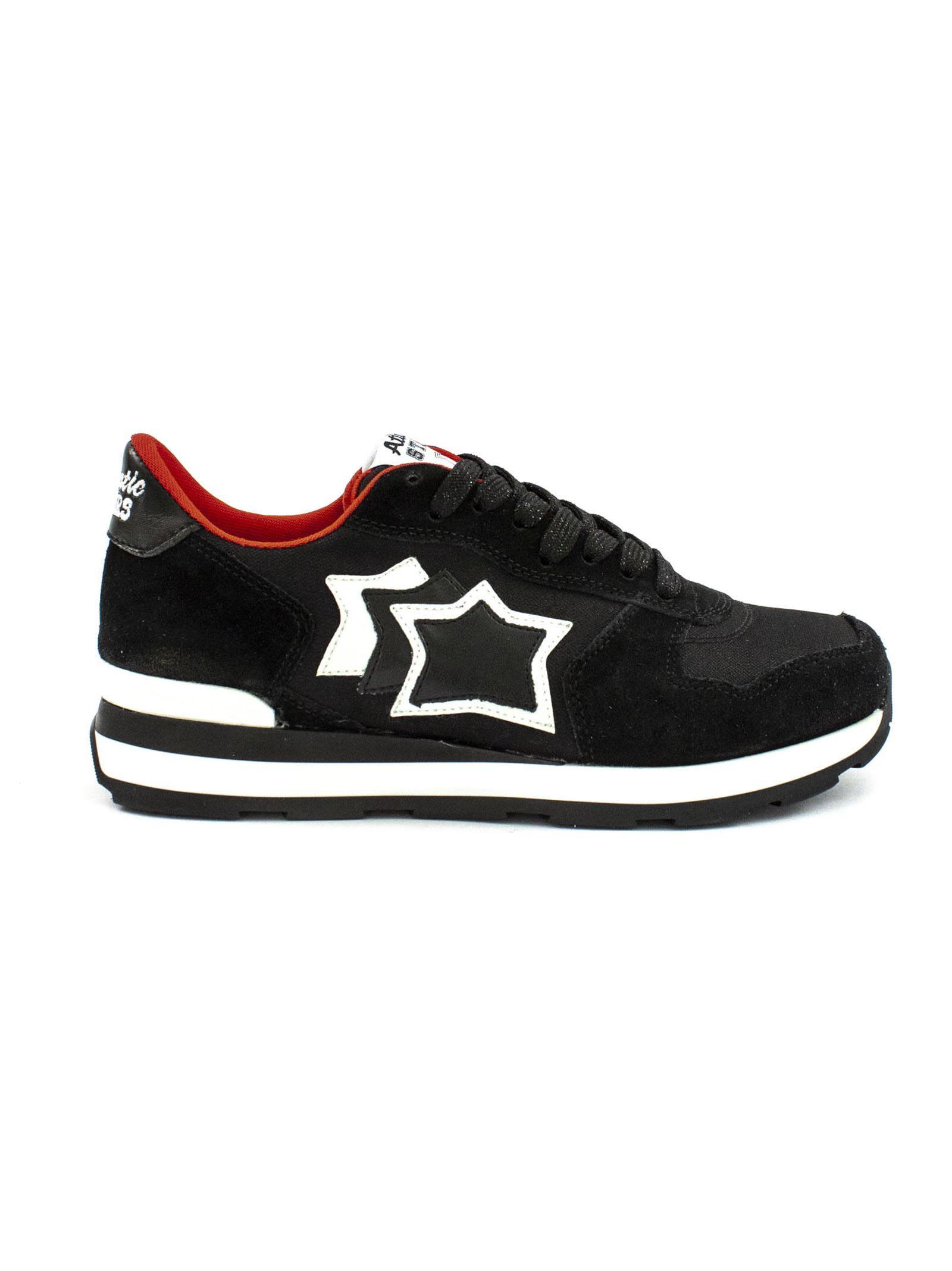 Atlantic Stars Vega In Black Suede And Fabric Sneaker.