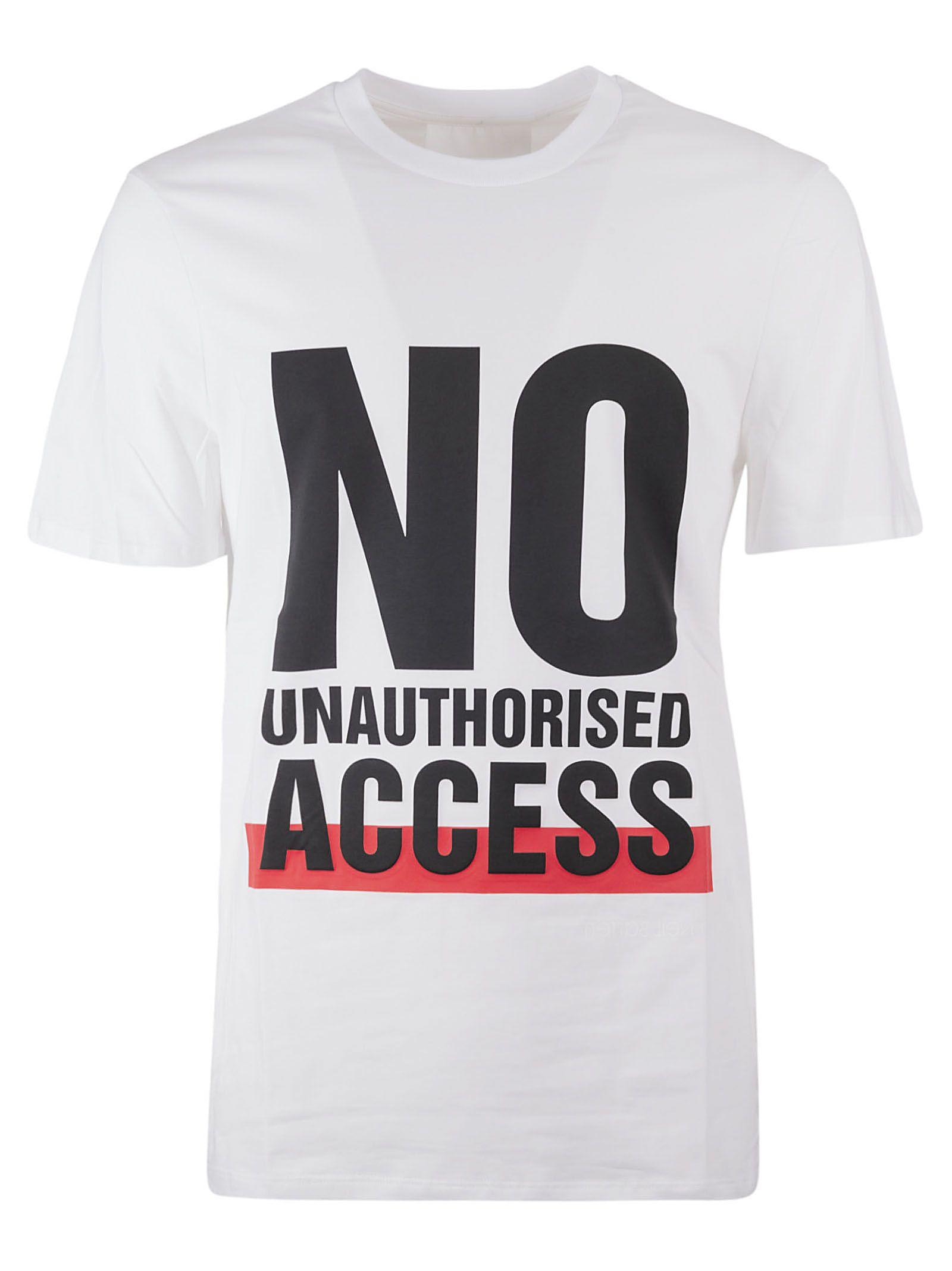 Neil Barrett No Unauthorized Print T-shirt