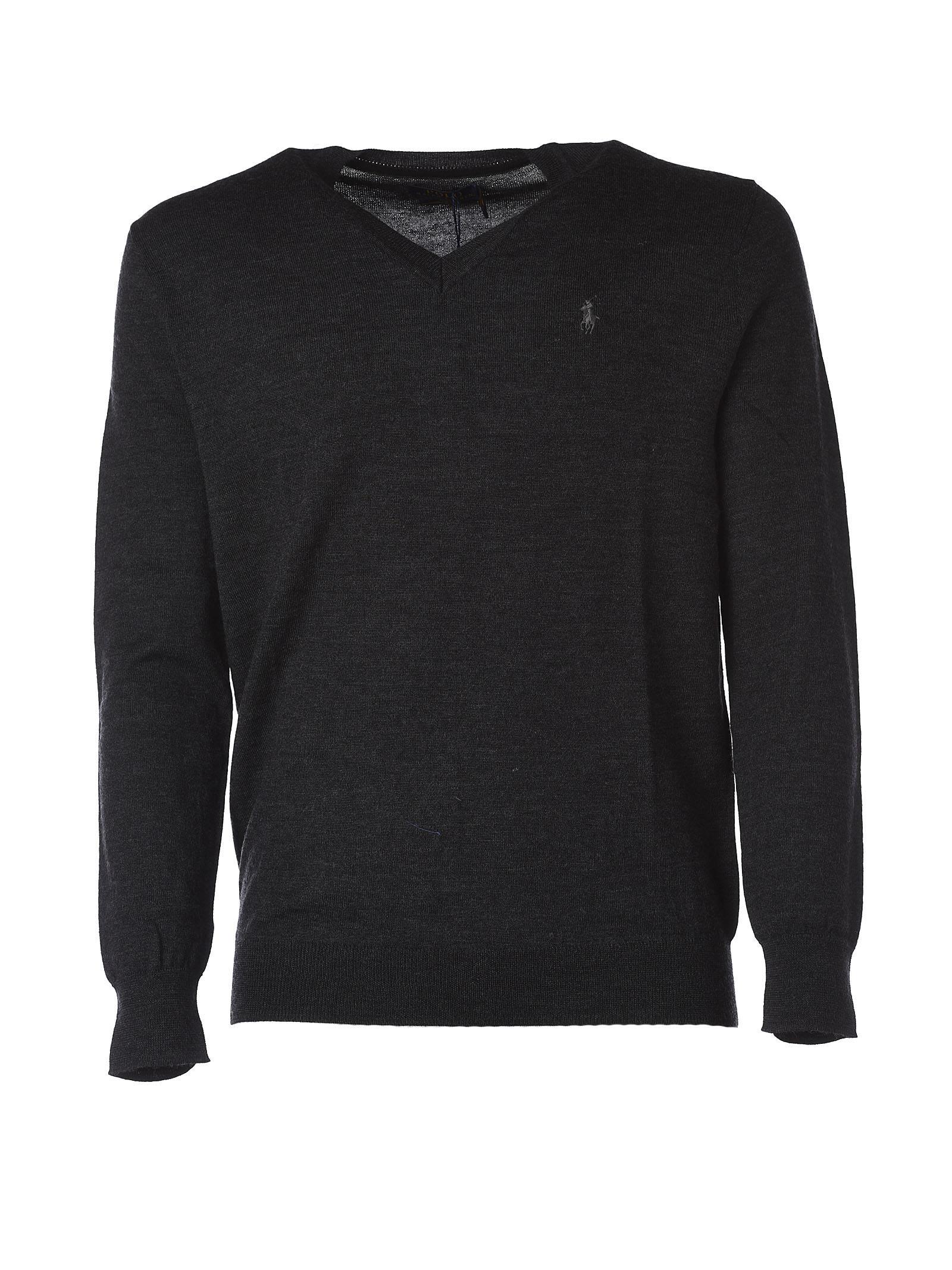 Polo Ralph Lauren Loryelle Classic Dark Grey V Neck Pullover