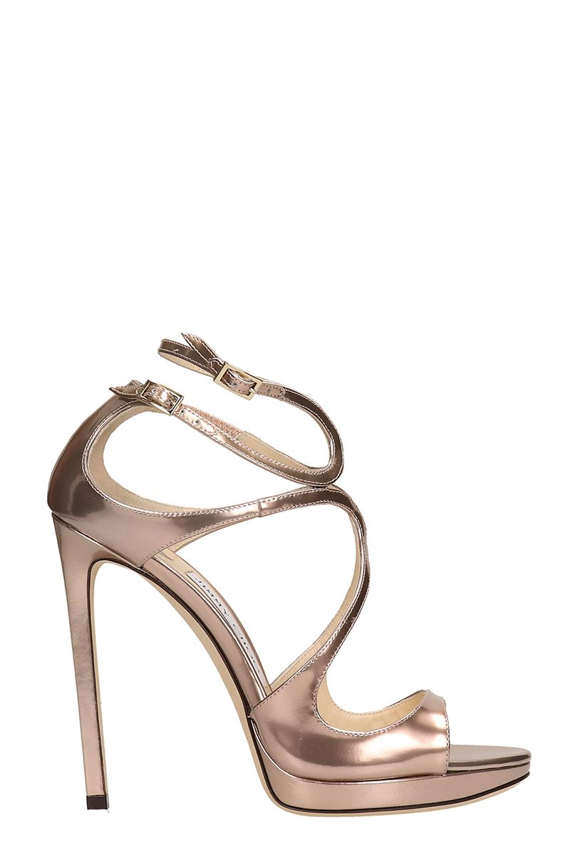 Jimmy Choo Liquid Mirror Bronze Sandals