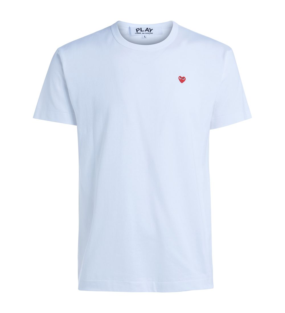 Comme Des Garçons Play White T-shirt With Red Heart