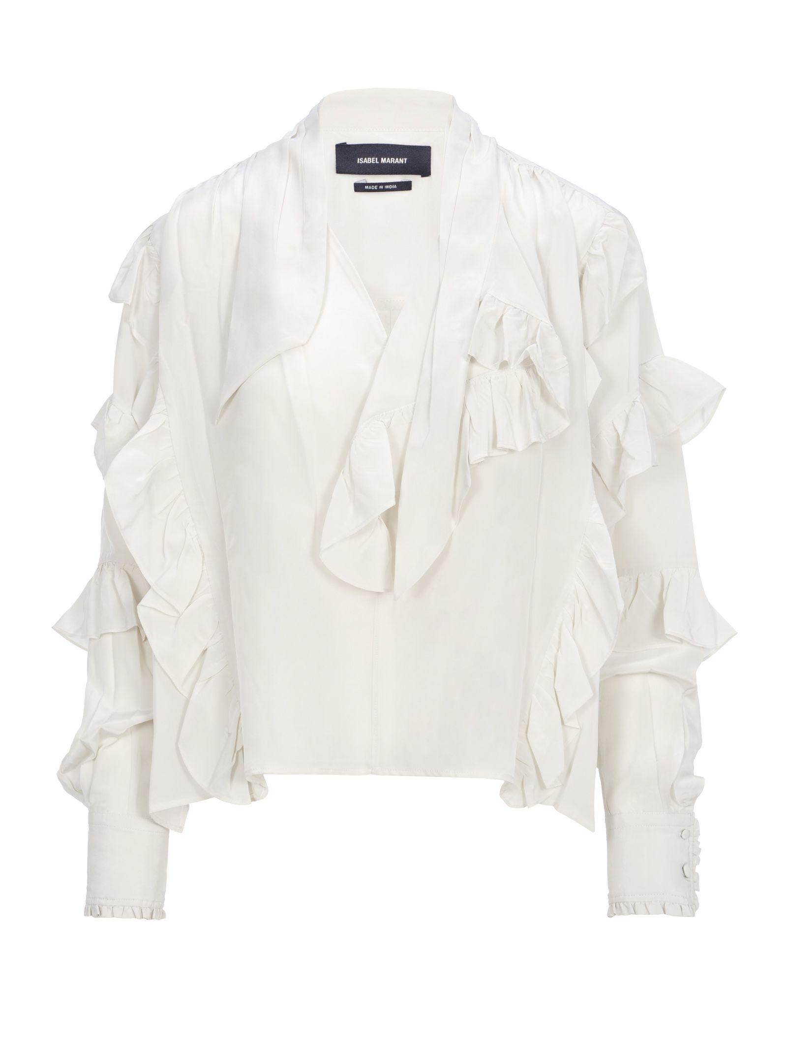 Isabel Marant Hess Ruflle Shirt