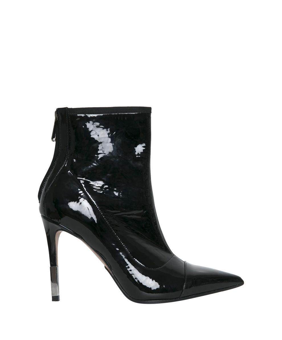 balmain -  Black Vinyl Ankle Boots