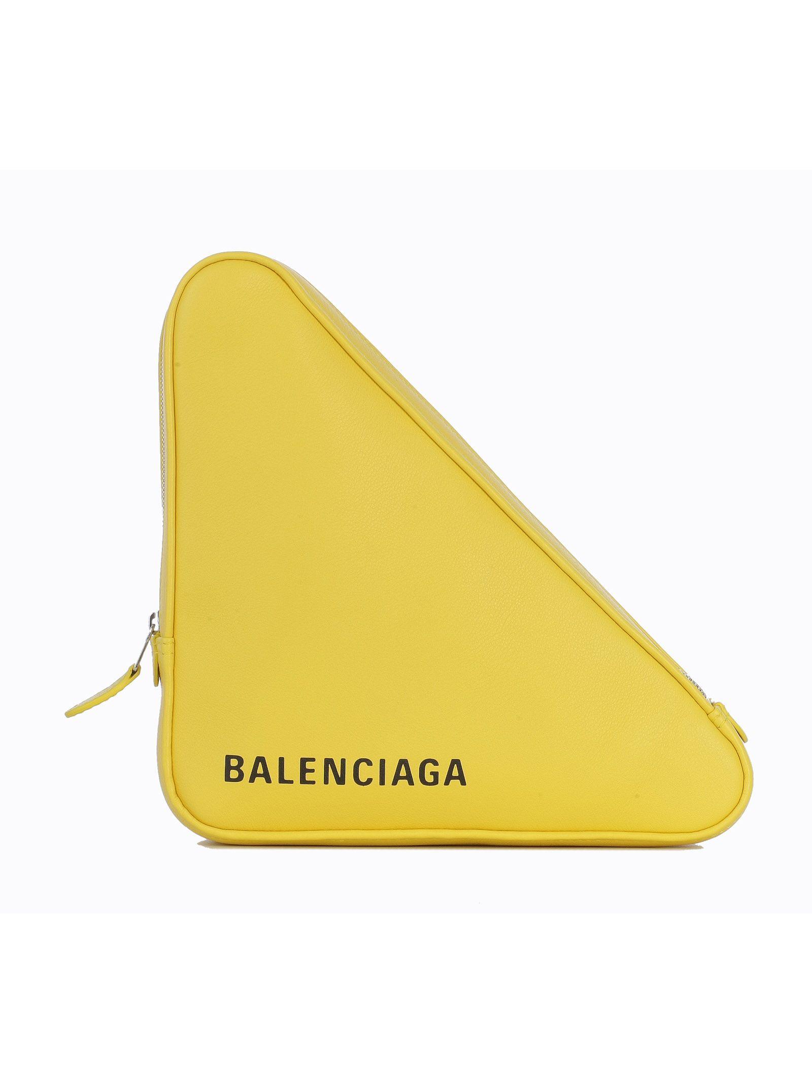 Balenciaga Logo Triangle Clutch