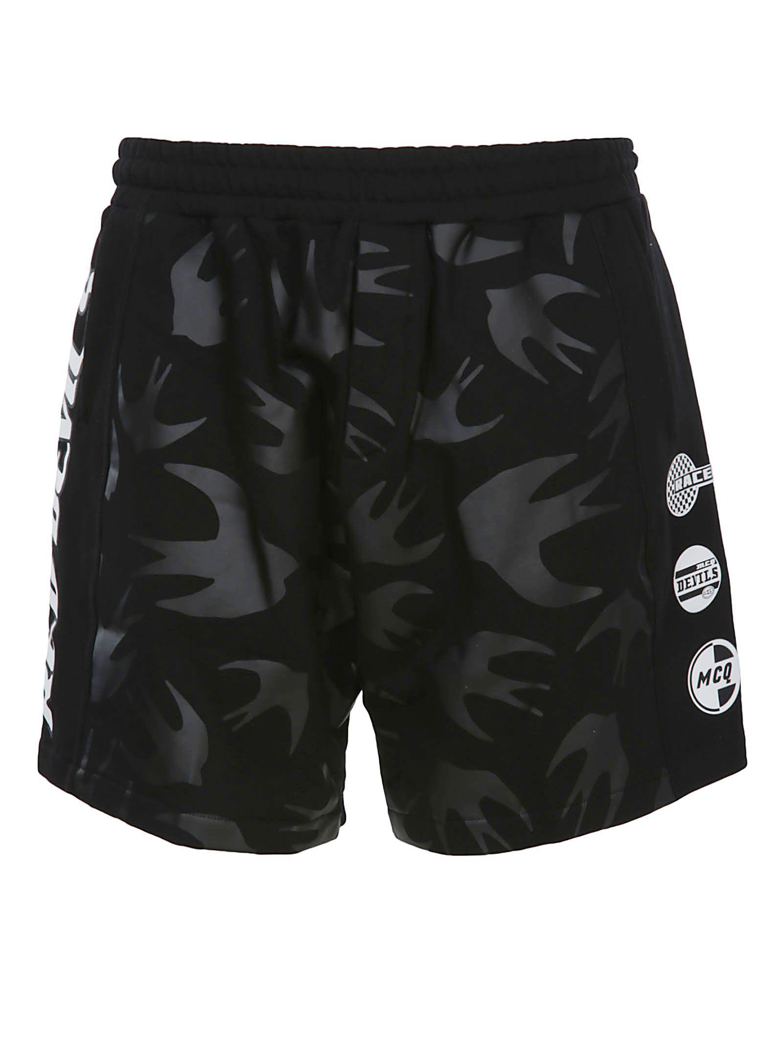 Mcq Alexander Mcqueen Swallow Print Shorts