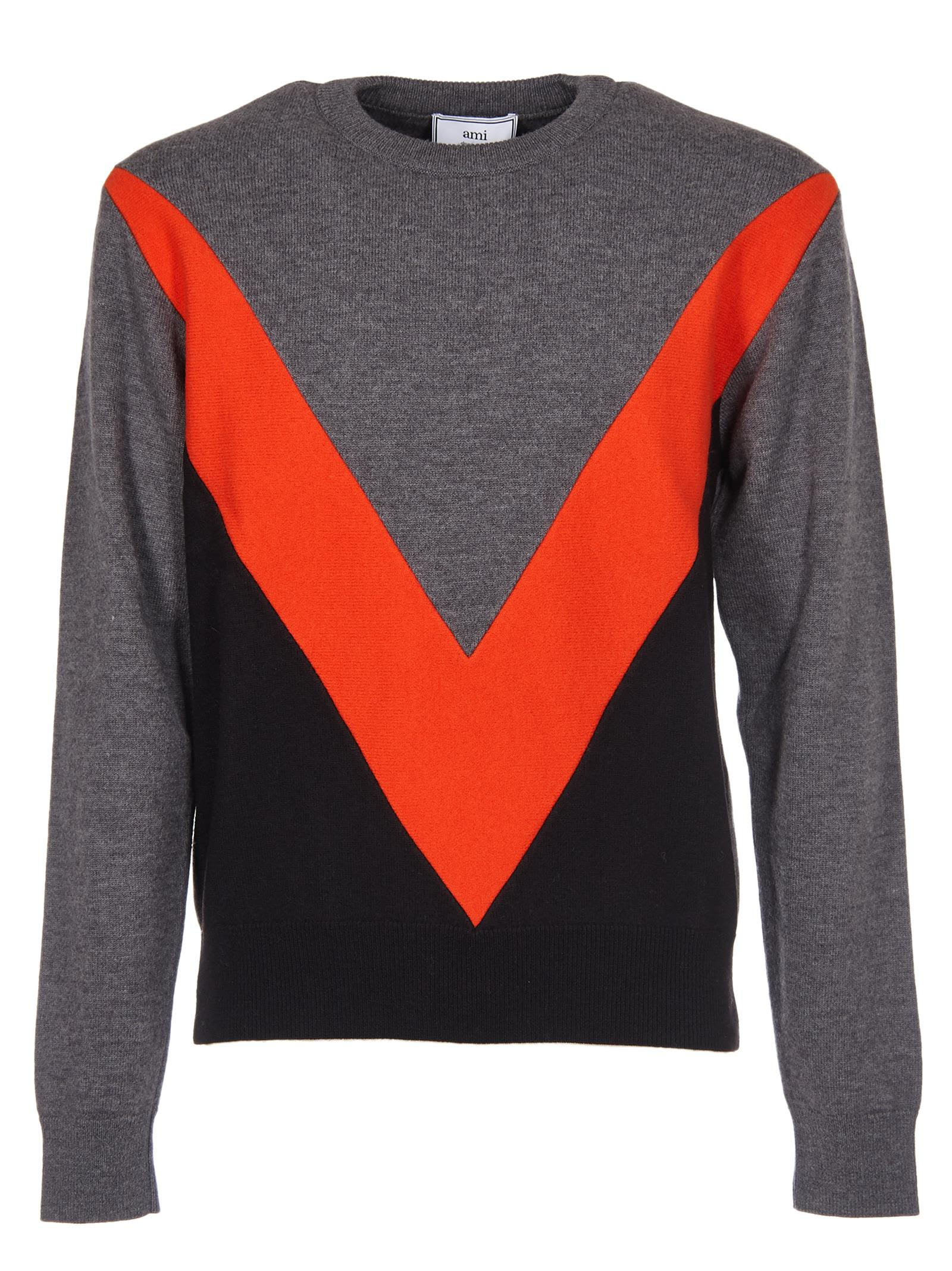 Ami Alexandre Mattiussi Color-block Sweater