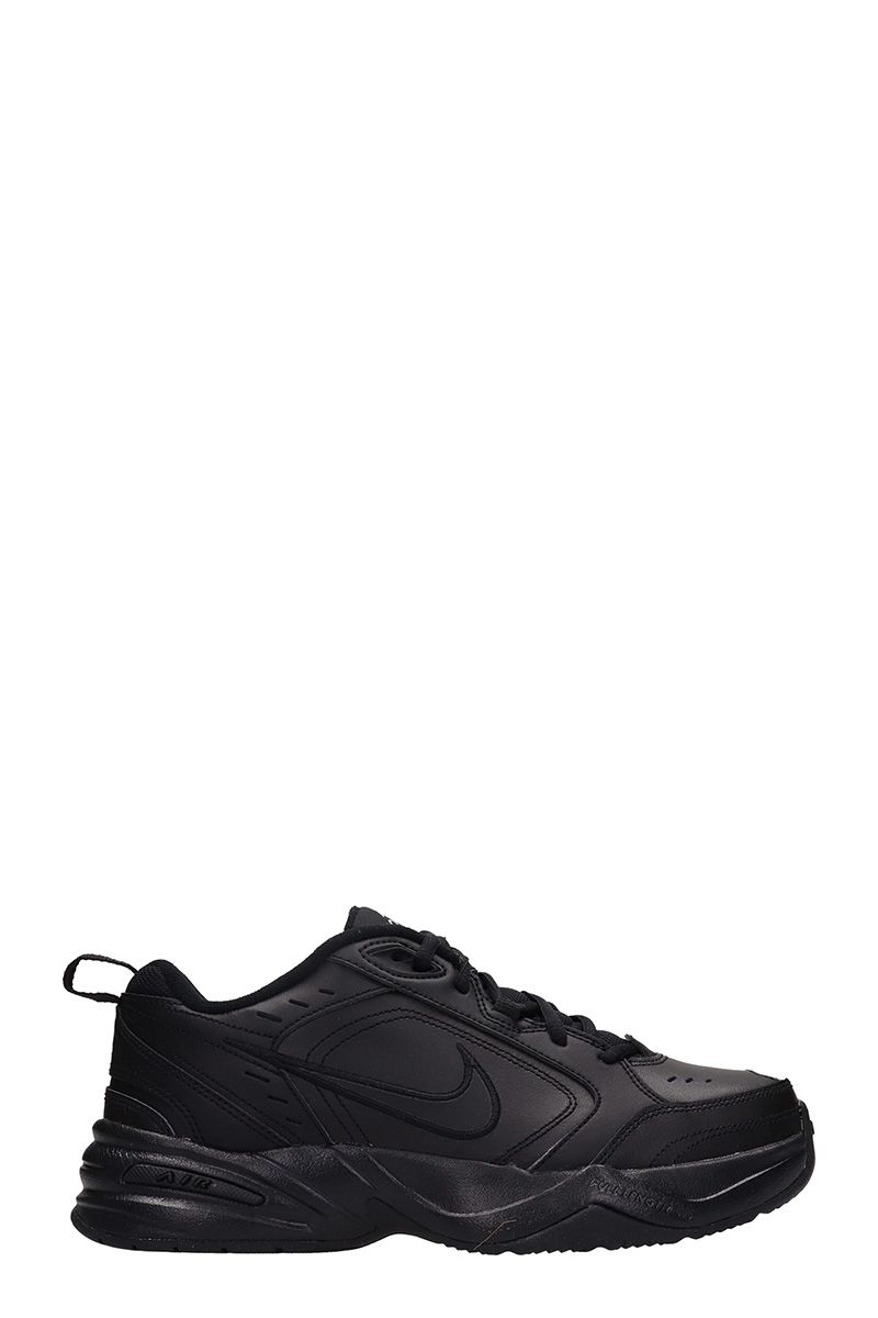 Nike Air Monarch Black Leather Sneakers