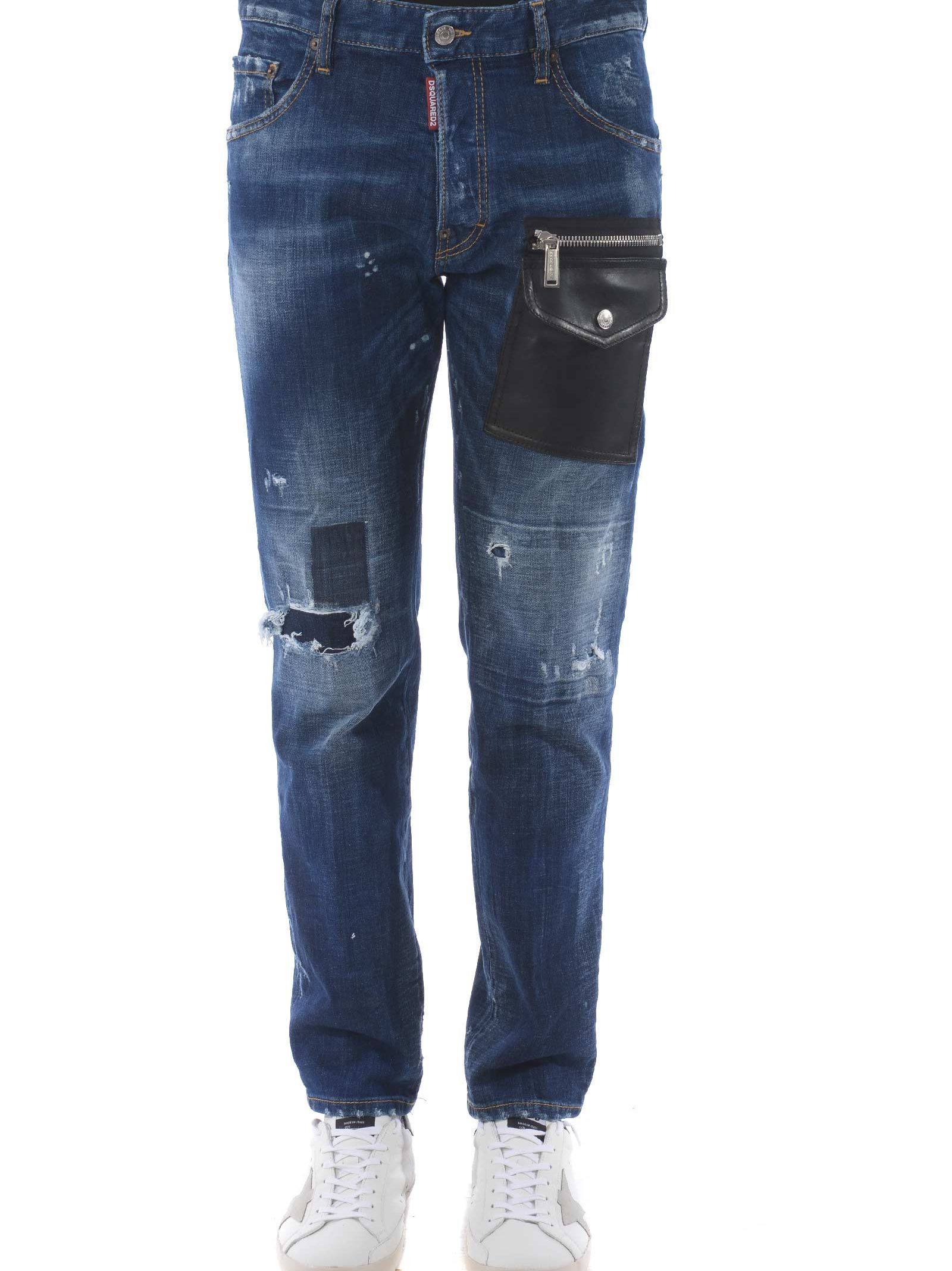 Dsquared2 Distressed Run Jeans
