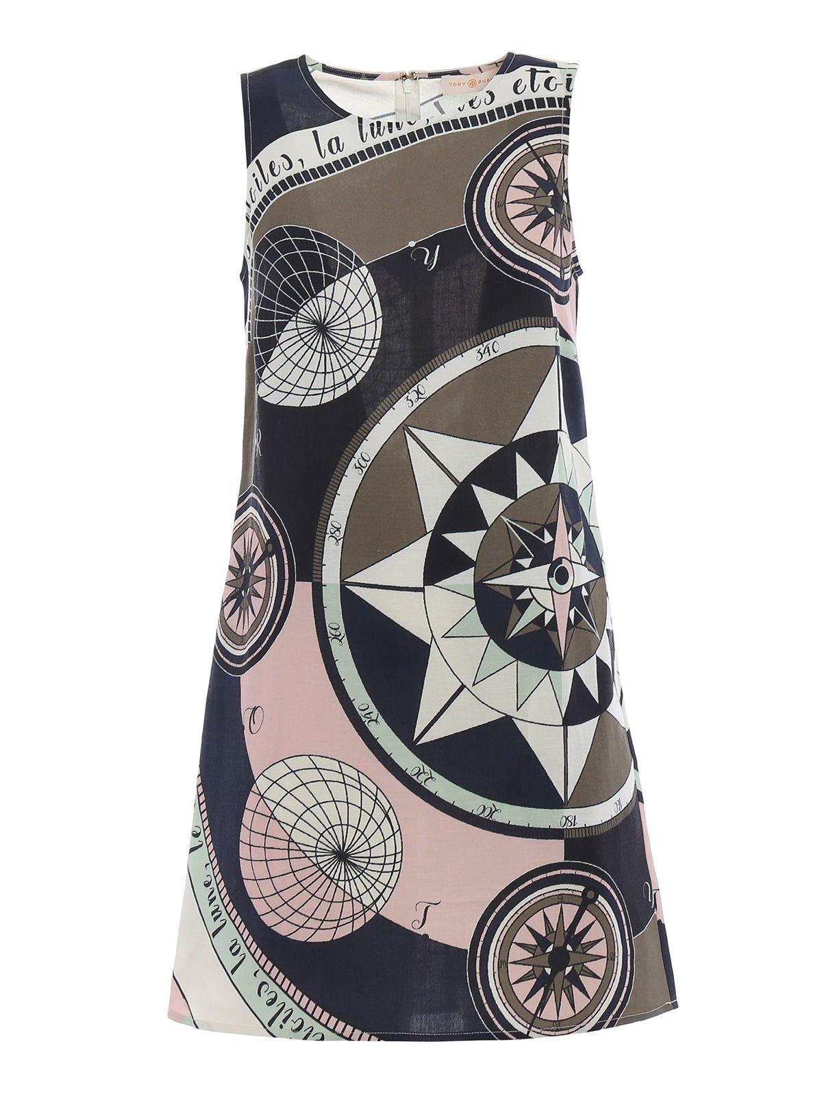 Tory Burch Linens COSMIC PRINT DRESS