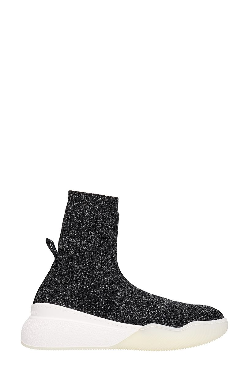 Stella McCartney Grey Glitter Socks Sneakers