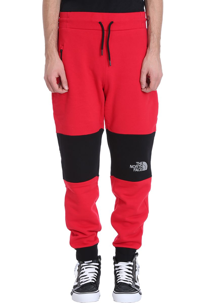 The North Face Red-black Cotton Trousers