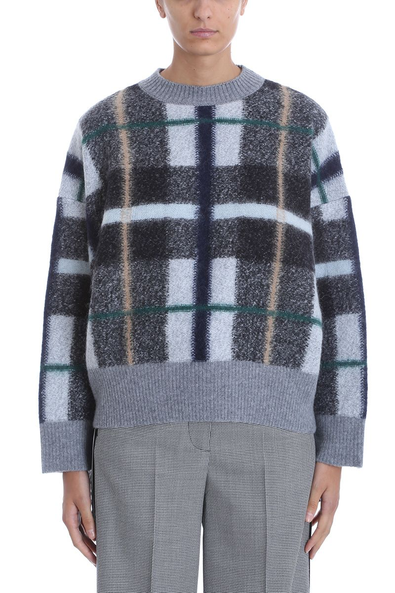 Stella McCartney Plaid Oversized Sweater