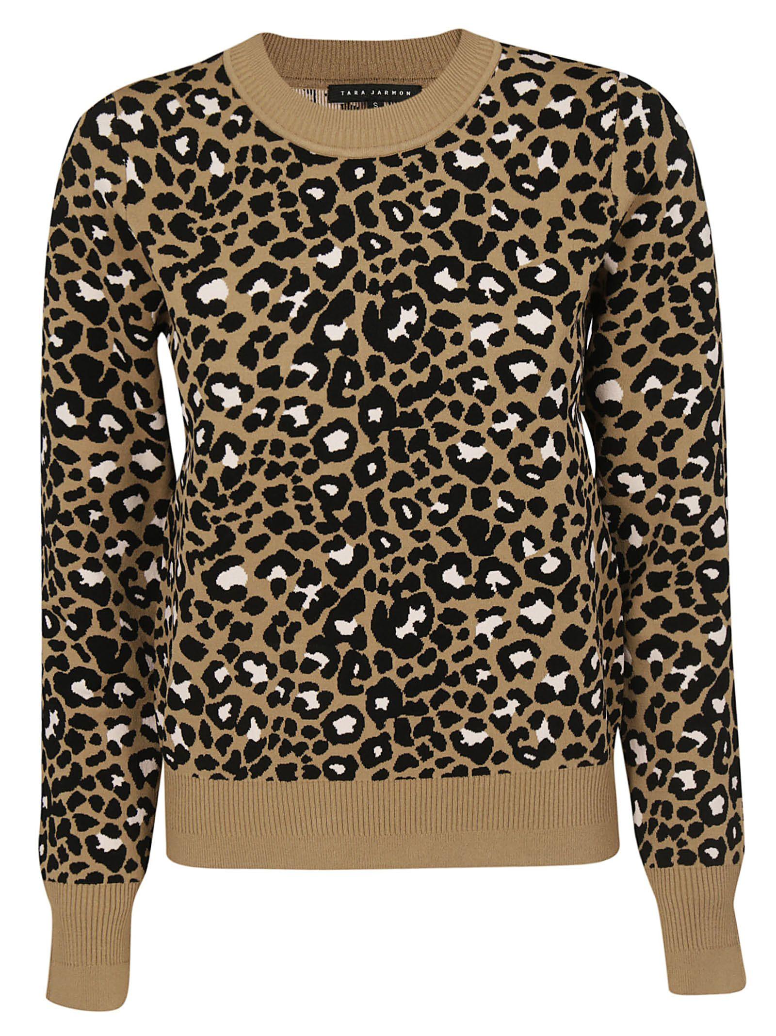 Tara Jarmon Leopard Print Sweater