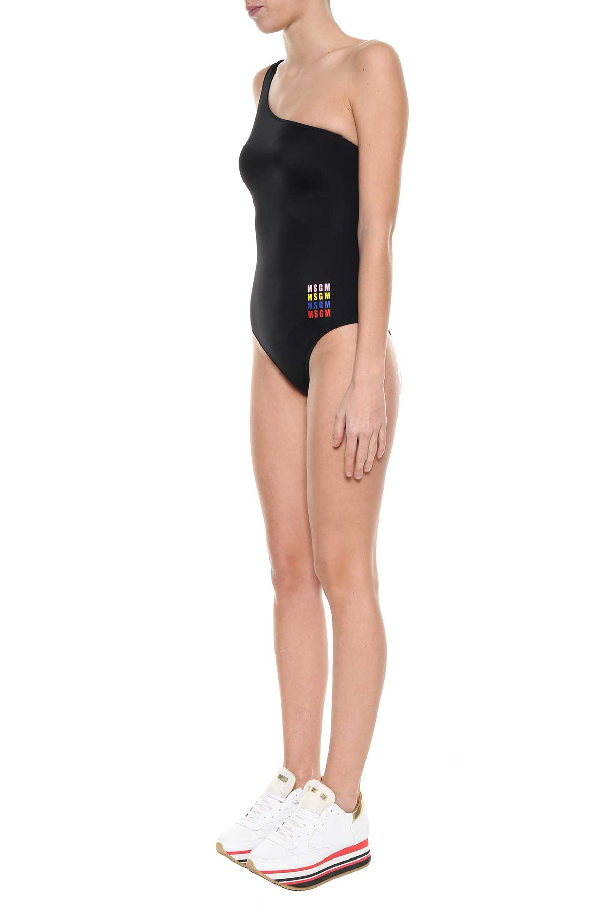 MSGM One Shoulder Swimming Suit