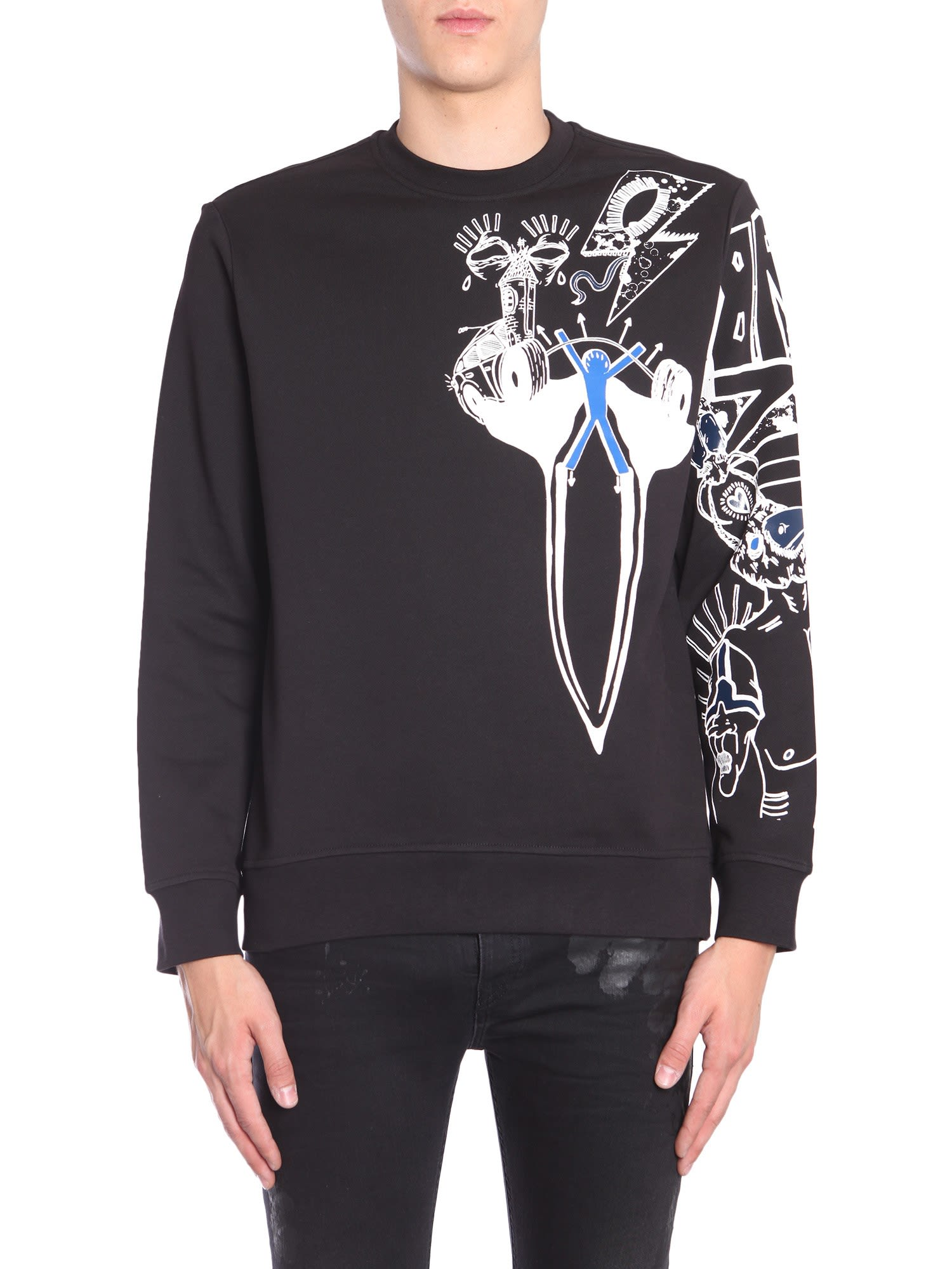 Diesel Black Gold Sneilb-graffiti Sweatshirt