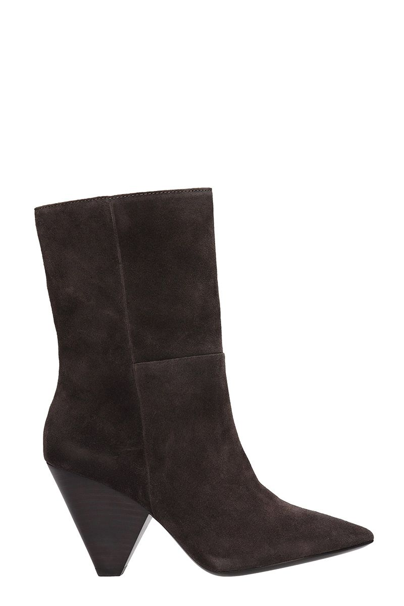 Ash Doll Brown Suede Ankle Boots