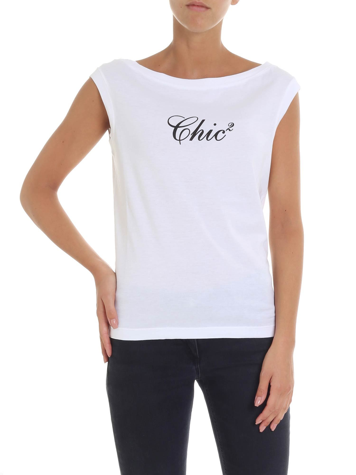 Dsquared2 Chic Slogan Print Tank Top