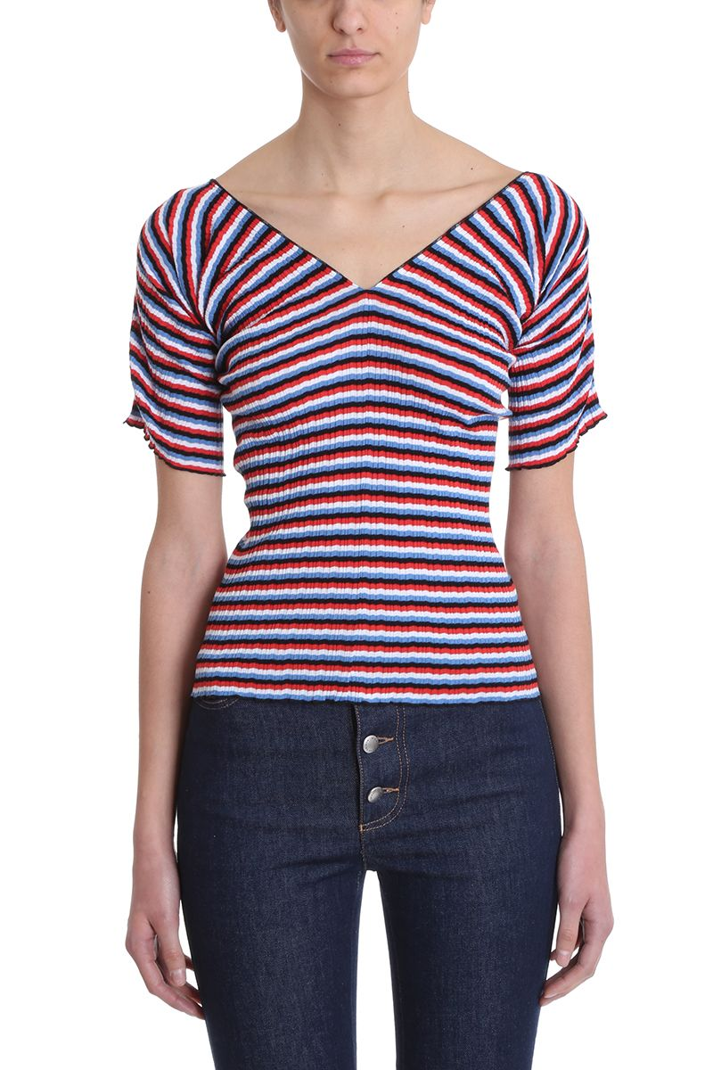 Sonia Rykiel Multicoloured Striped Cotton T-shirt
