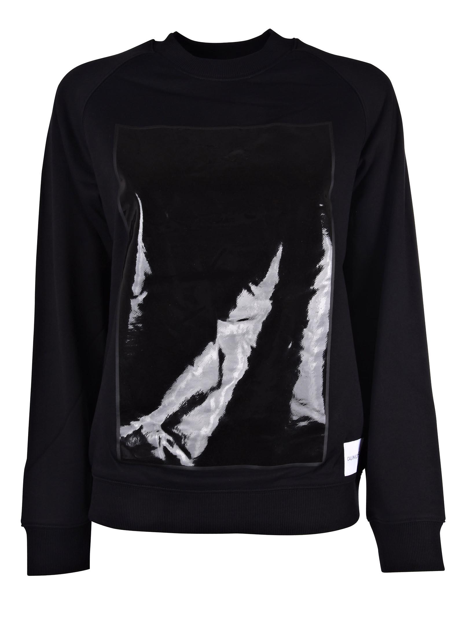 Calvin Klein Jeans Vinyl Paneled Sweatshirt