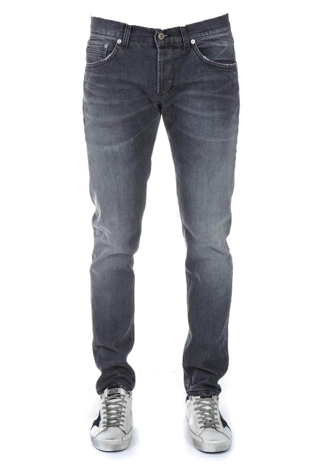 Dondup Black Denim Cotton Jeans