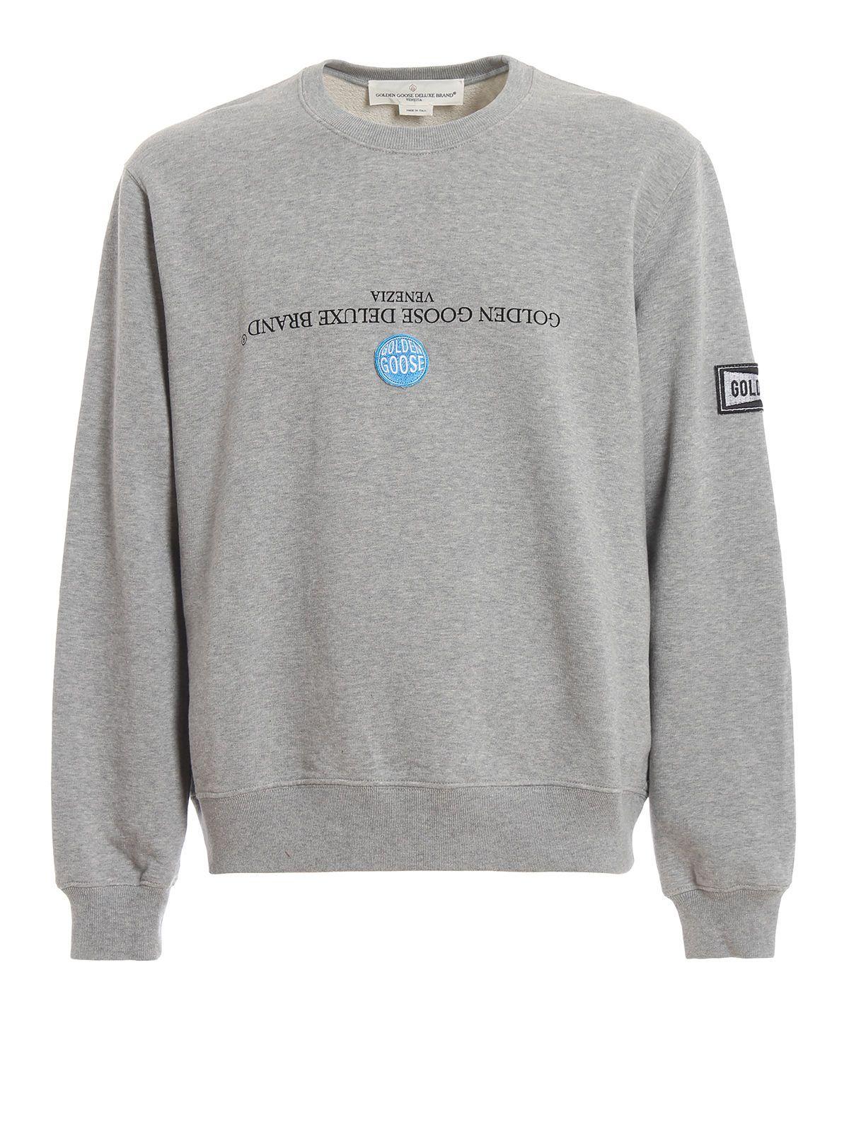 Golden Goose Upside Down Logo Print Sweatshirt