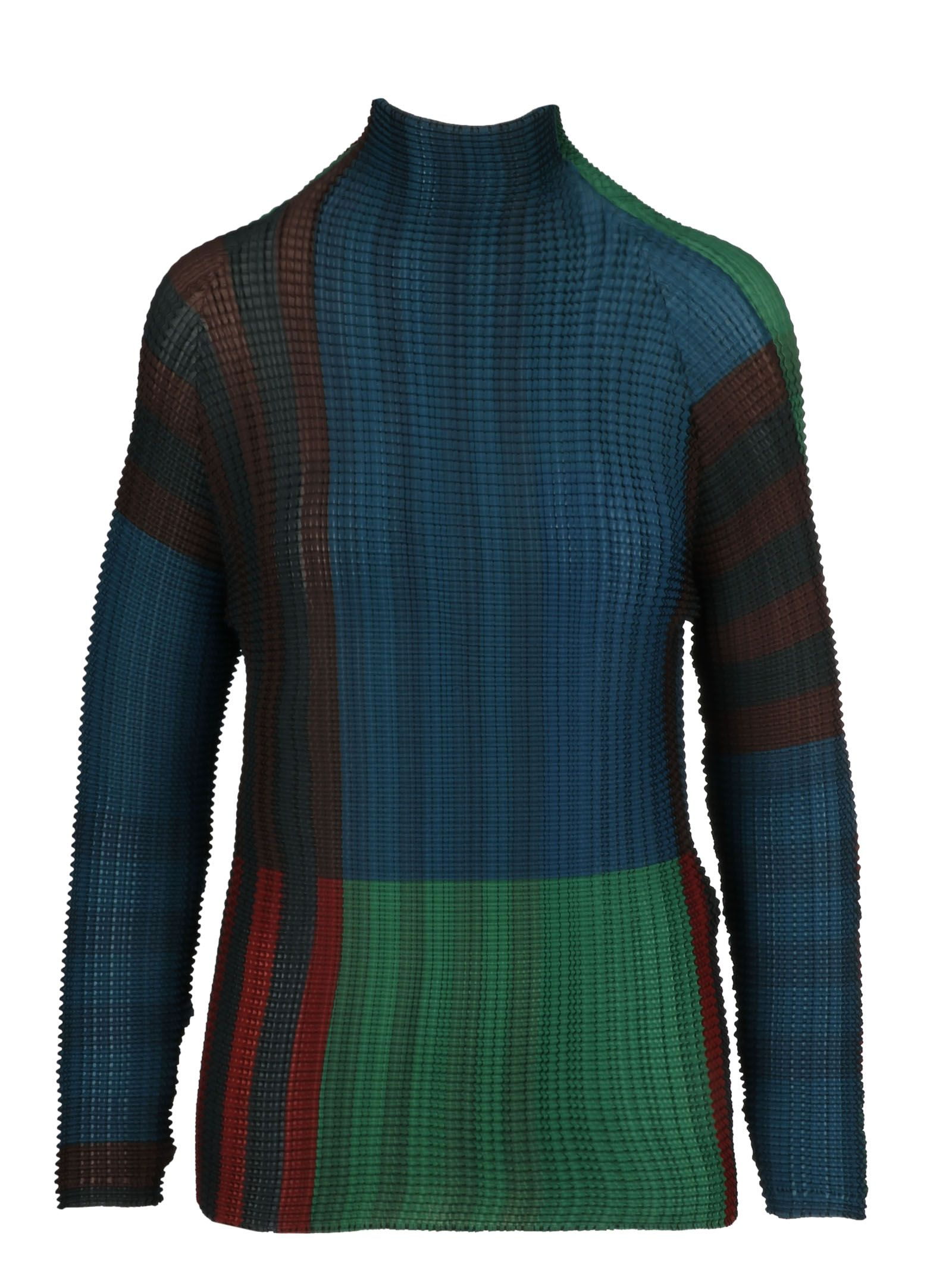 Issey Miyake Cauliflower Striped Sweater