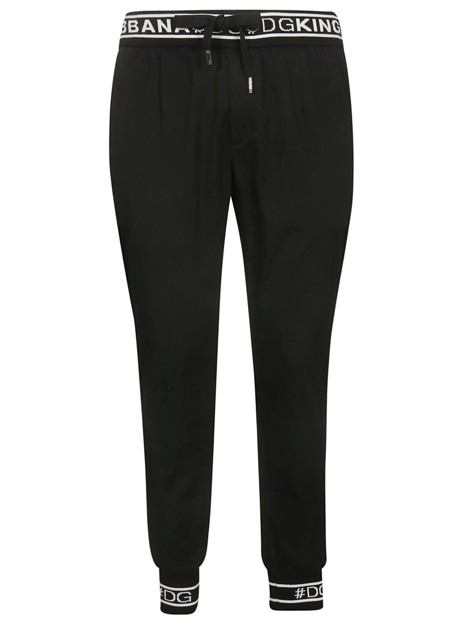Dolce & Gabbana Logo Waist Track Pants