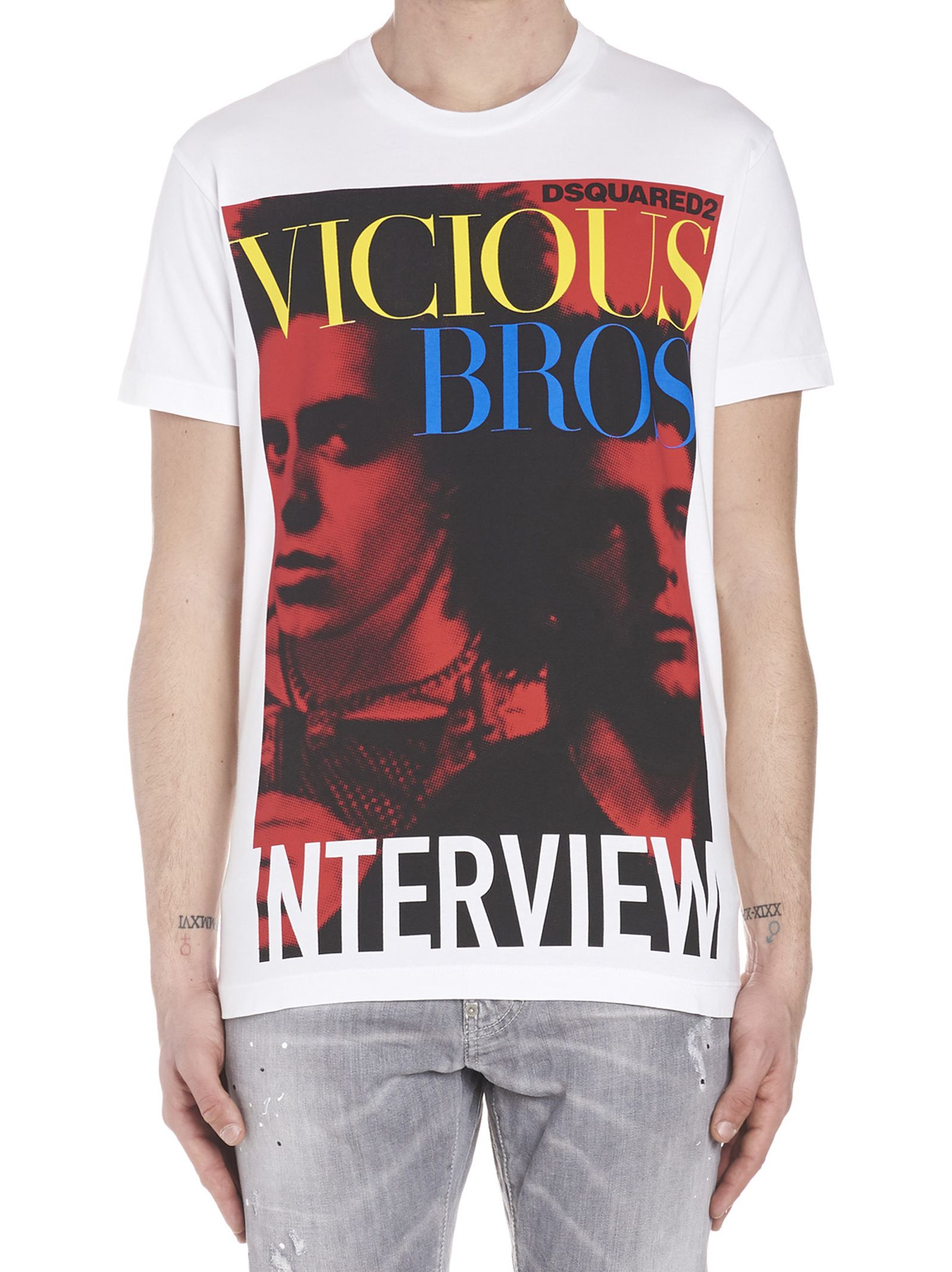 Dsquared2 'vicious Bros' T-shirt