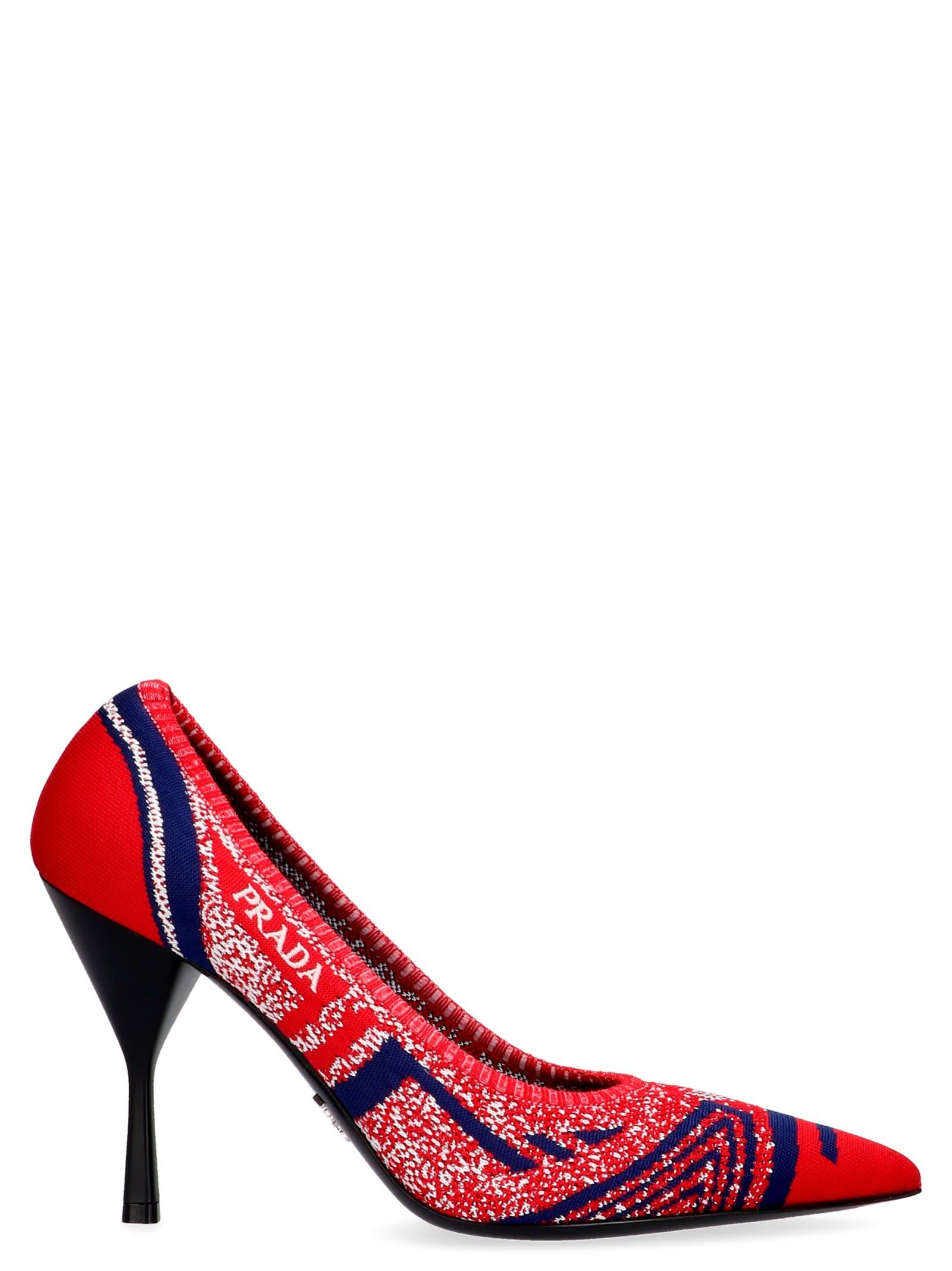 Prada 'Mouline Resort' Shoes in Red