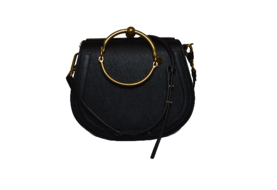 Nile Shoulder Bag With Brass Inserts