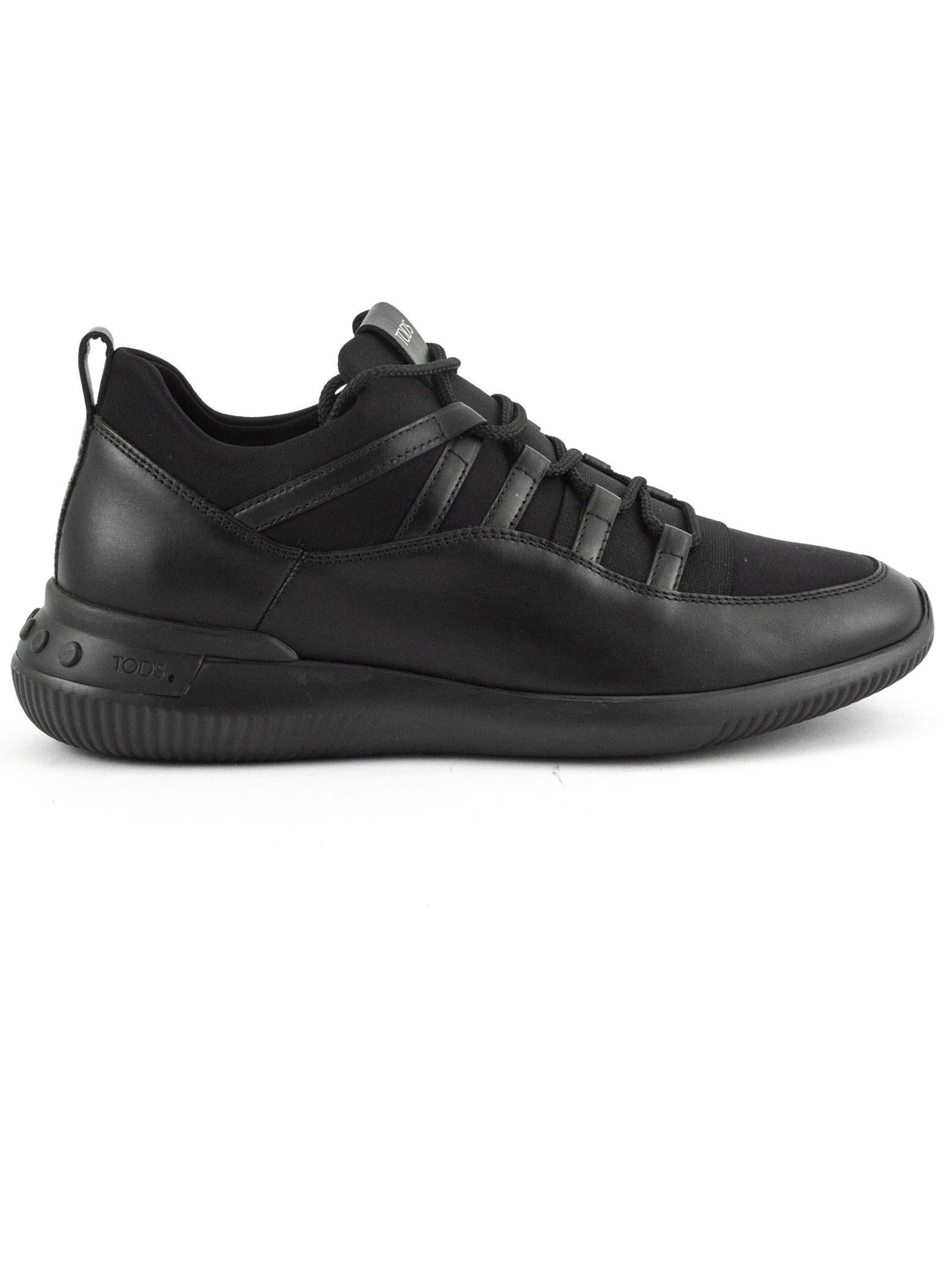Tod's Shoeker No code 01 In Leather And Scuba Fabric
