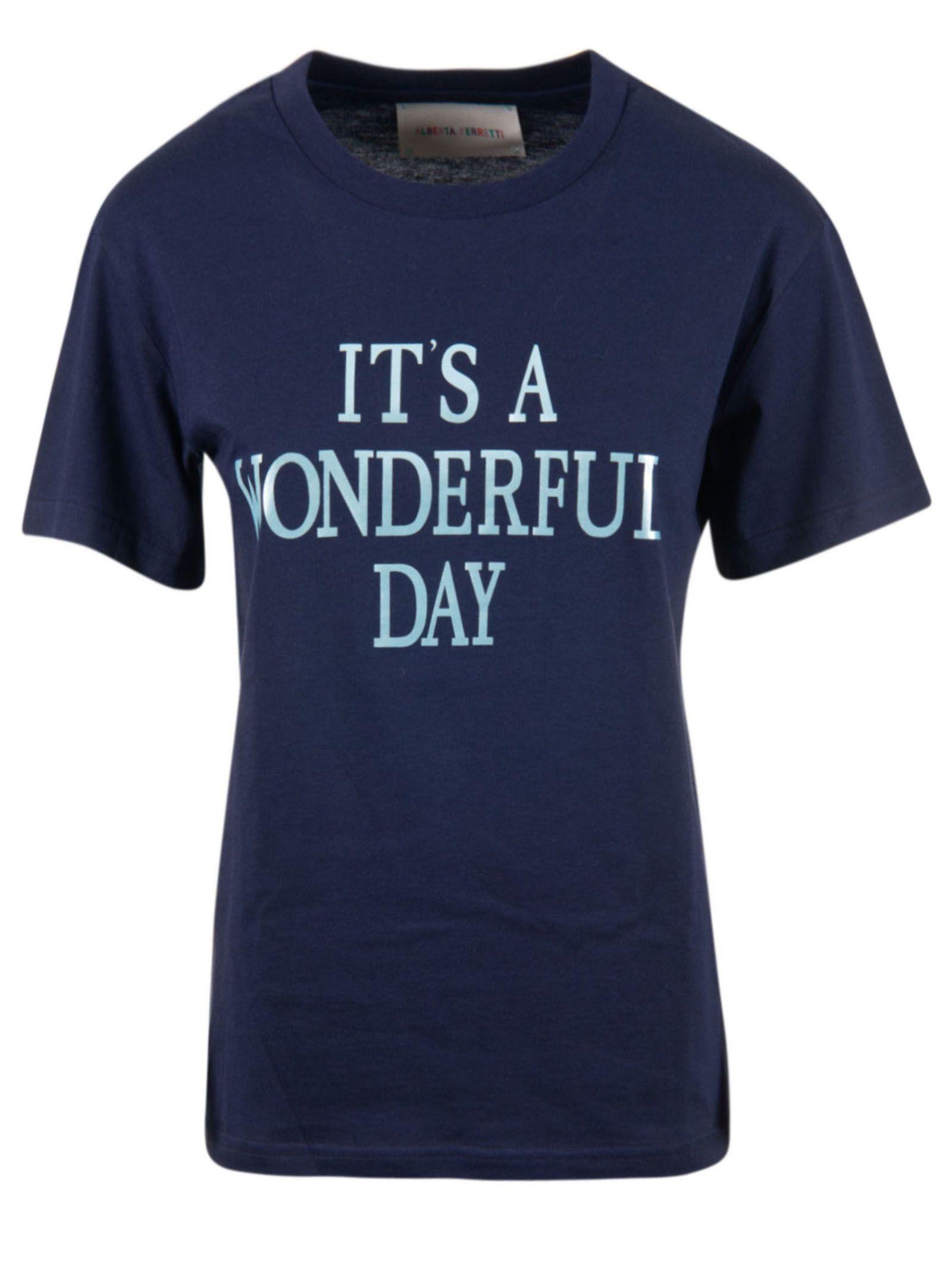 Alberta Ferretti It's A Wonderful Day Print T-shirt