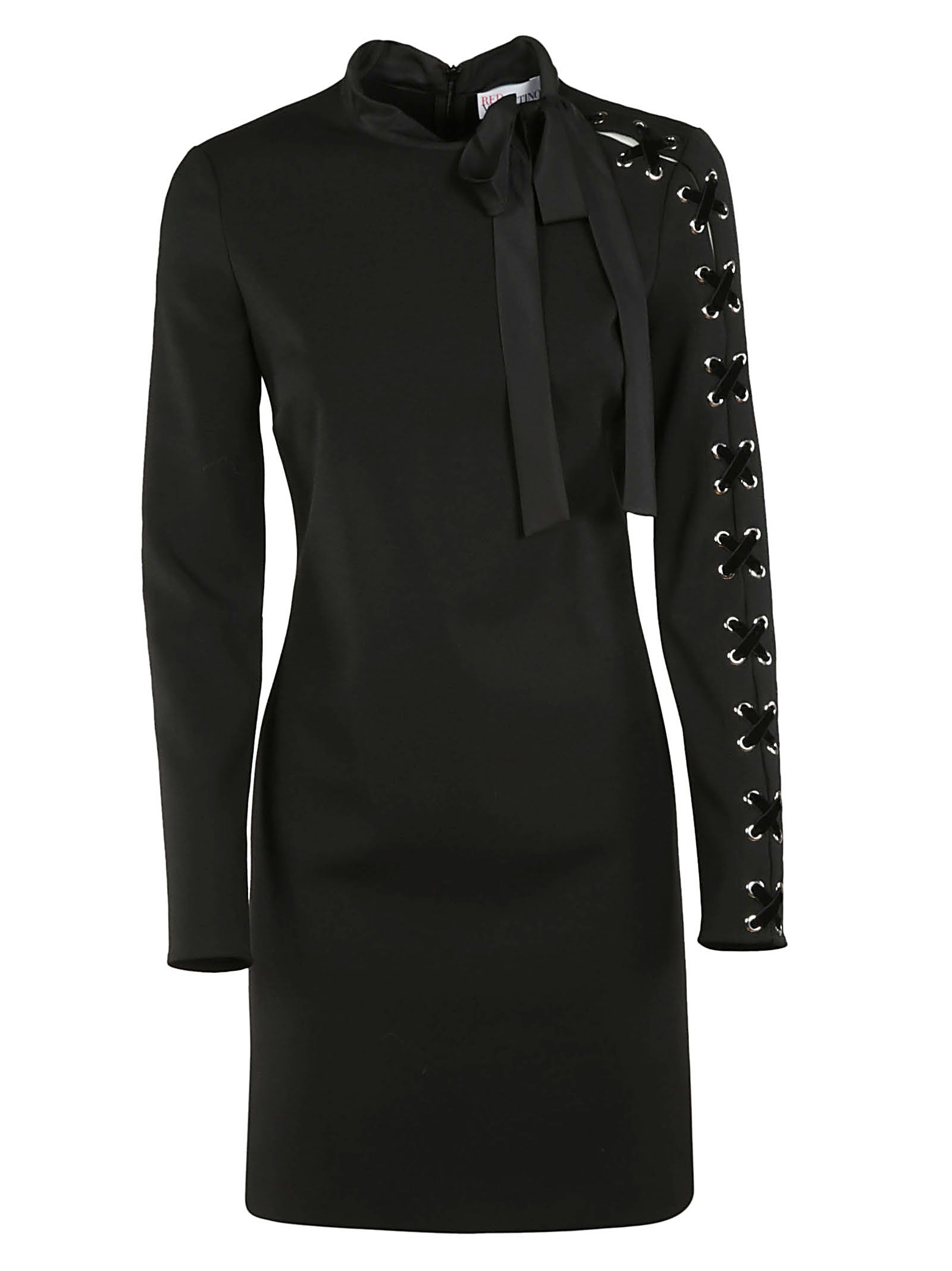 Red Valentino Lace Up Sleeve Cady Dress