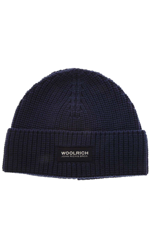 Woolrich Dark Blue Wool Hat
