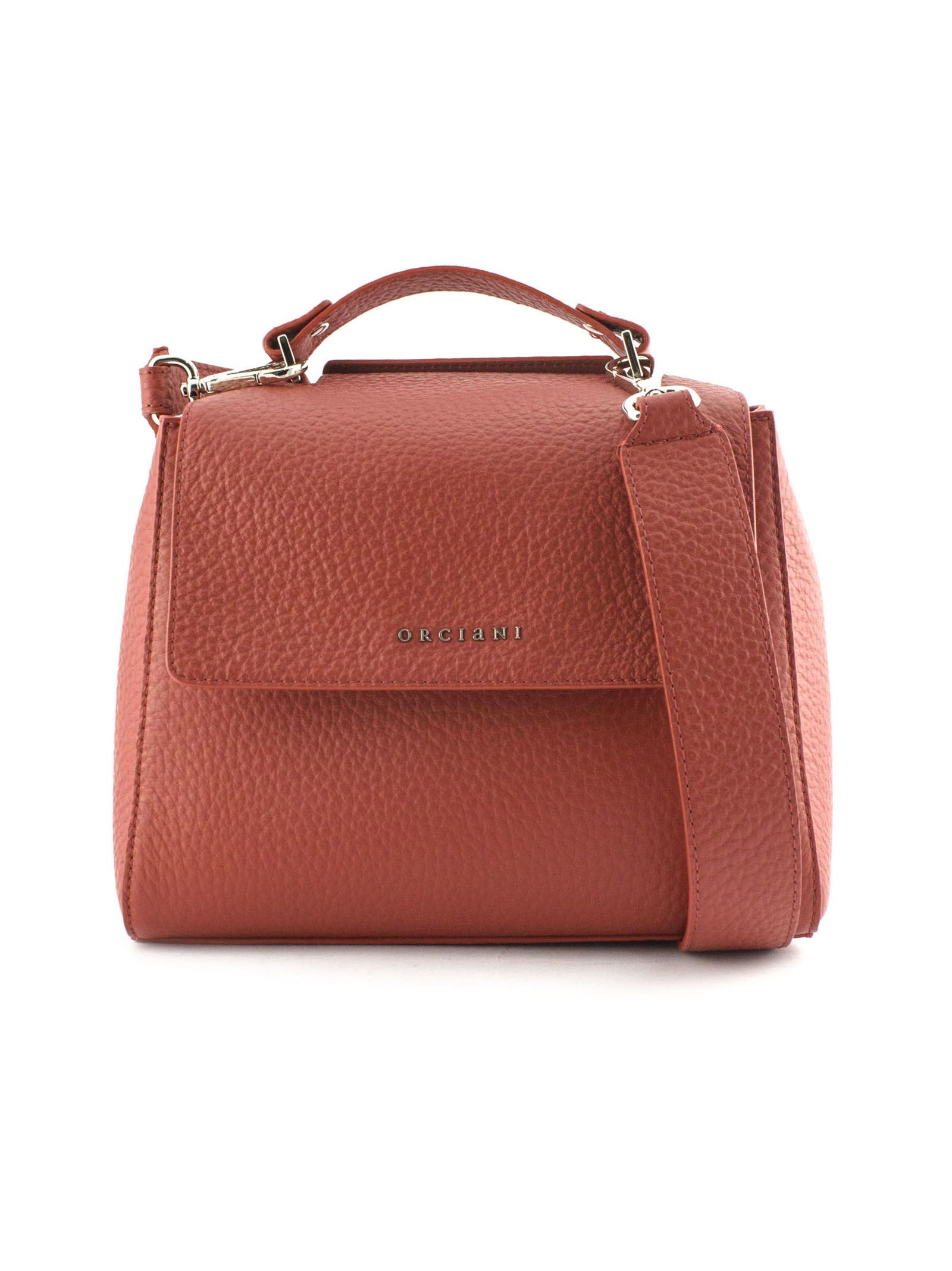 Orciani Sveva Small Red Leather Handbag In Rosso  238bade991280