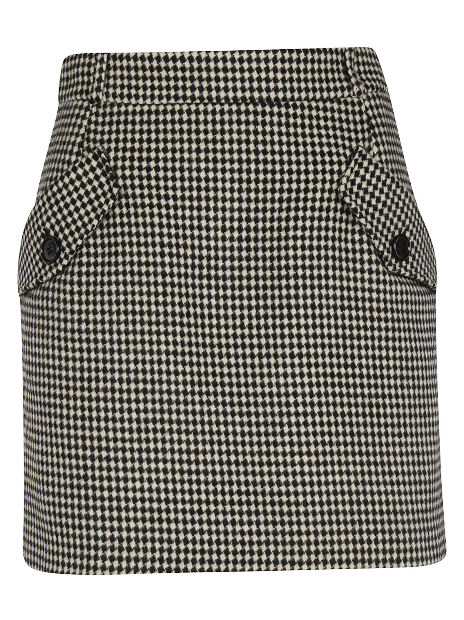 Tara Jarmon Checked Skirt