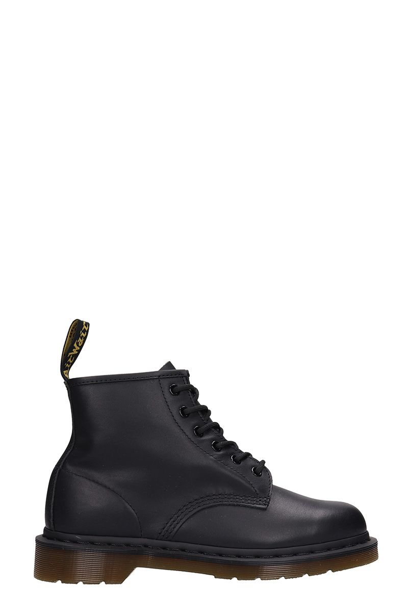 dr. martens -  Black Leather Combat Boots