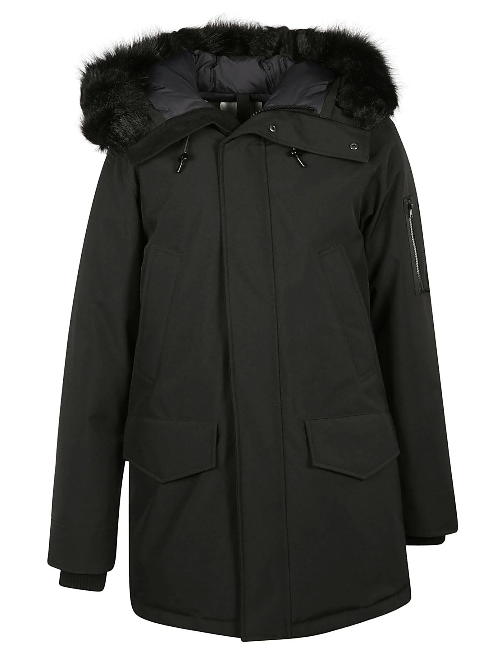 Kenzo Racoon Fur Trim Hooded Coat
