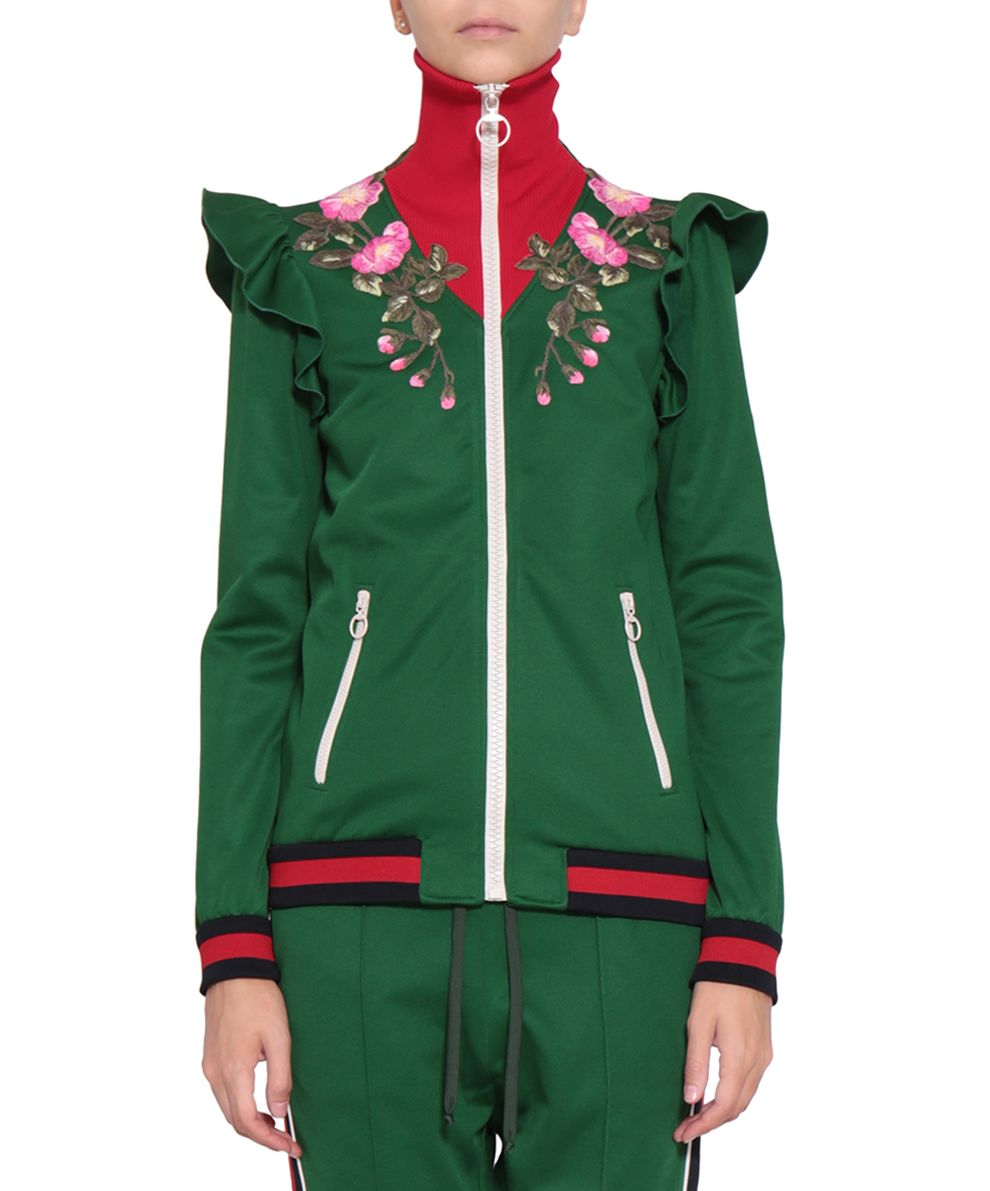 Gucci Embroidered Technical Jersey Sweatshirt