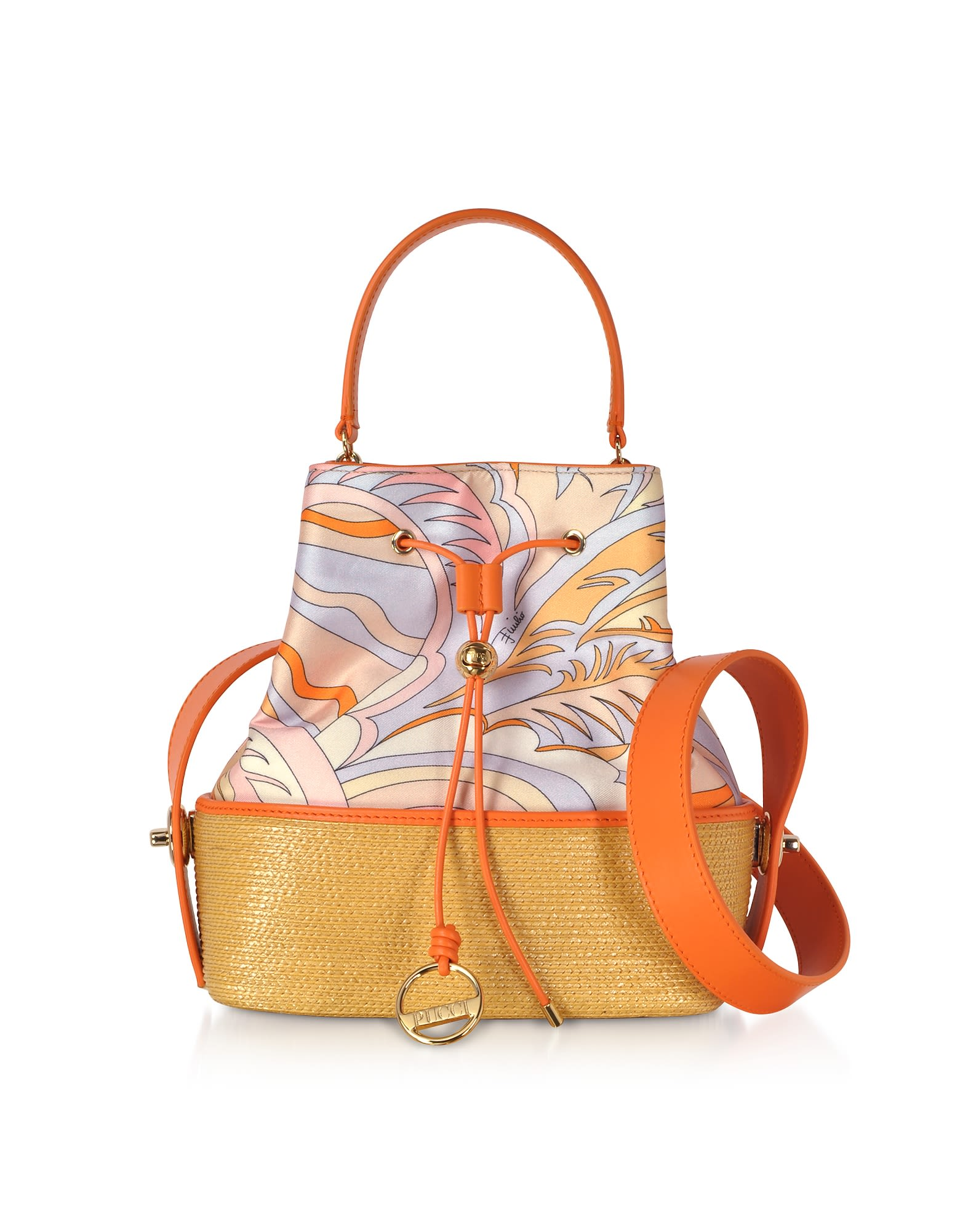 Emilio Pucci Viscose And Cotton Bucket Bag
