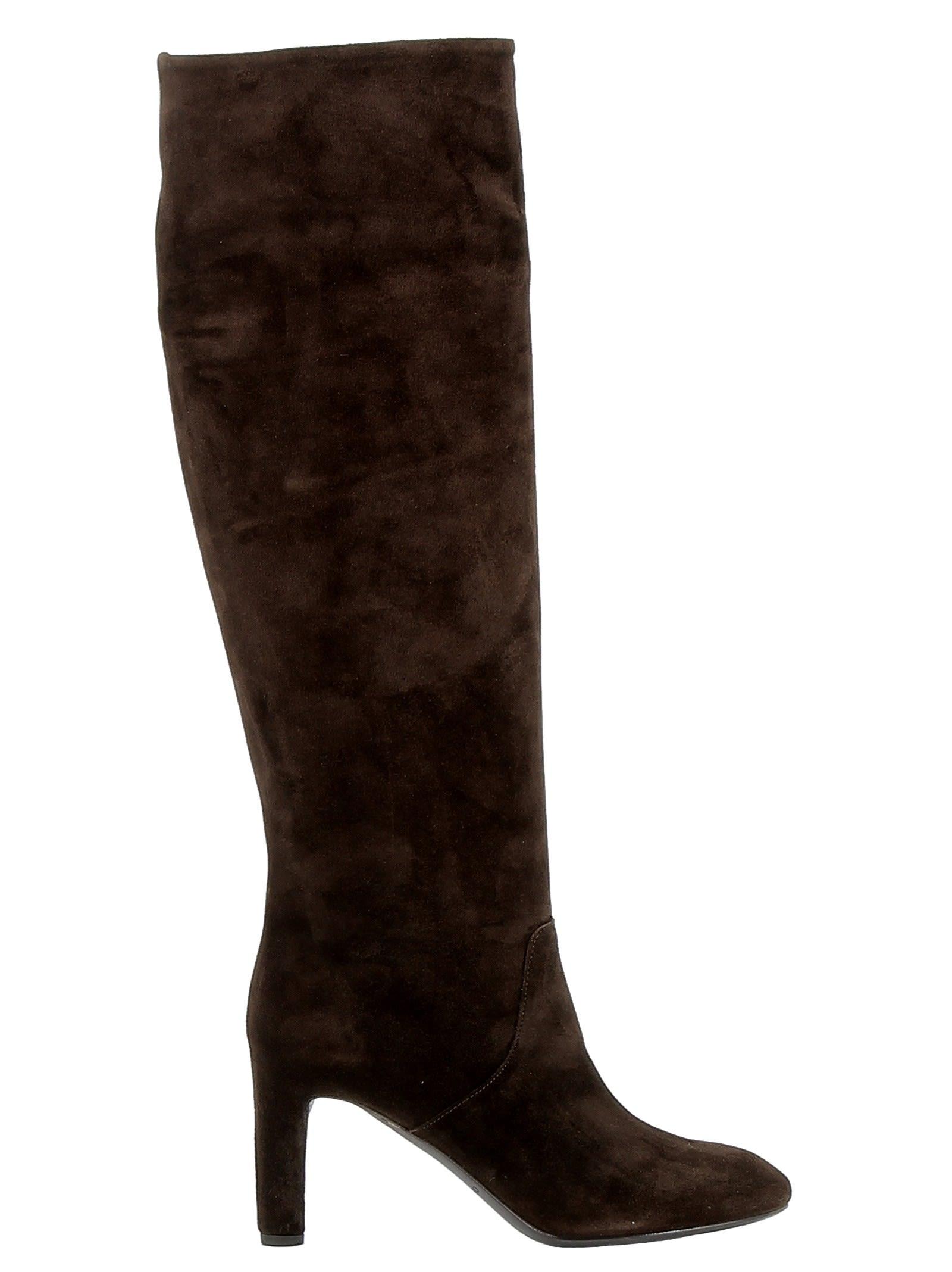 Roberto Del Carlo Brown Suede Boots